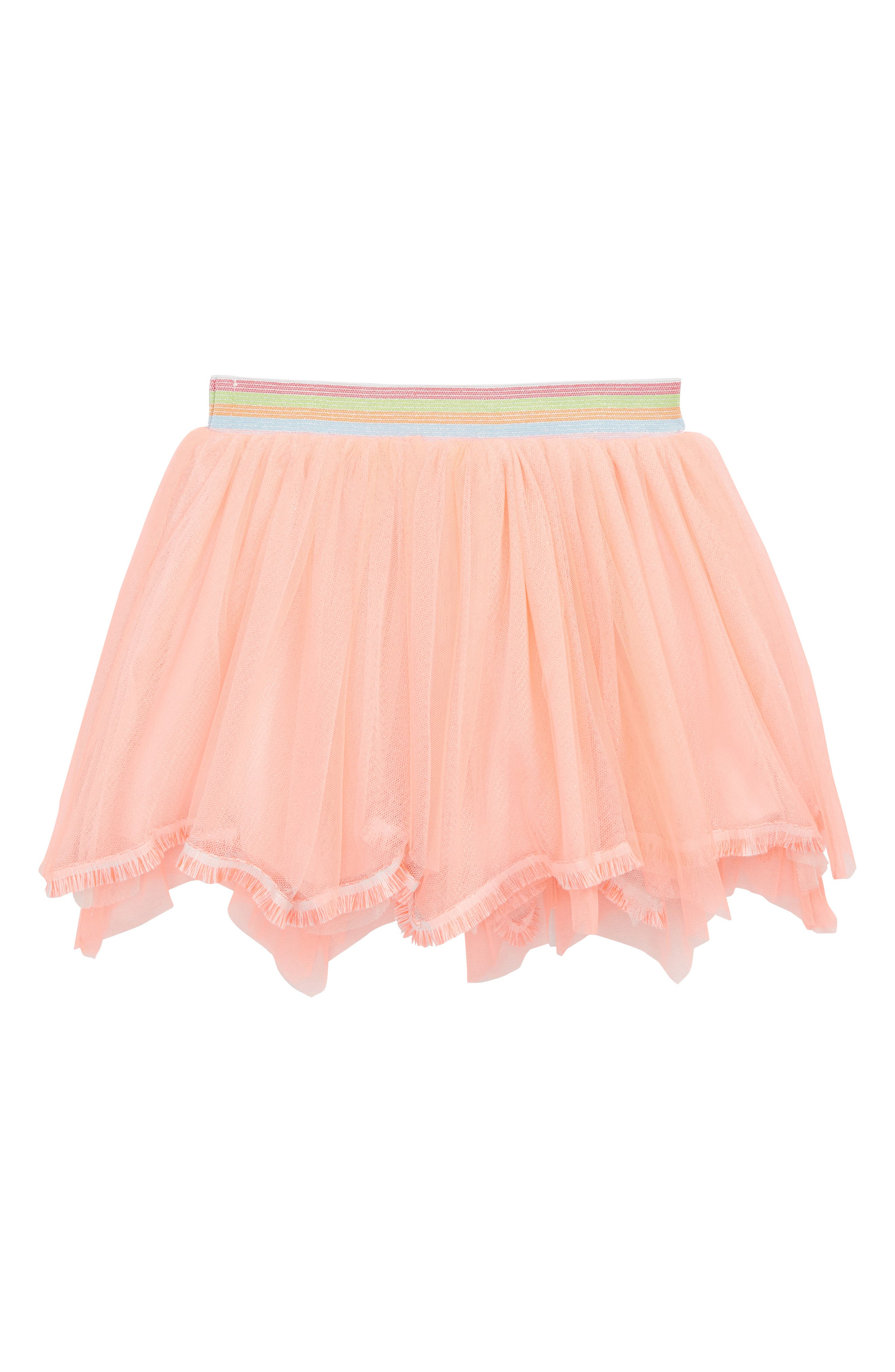 Fringed Hem Tutu Skirt,                         Main,                         color, Orange