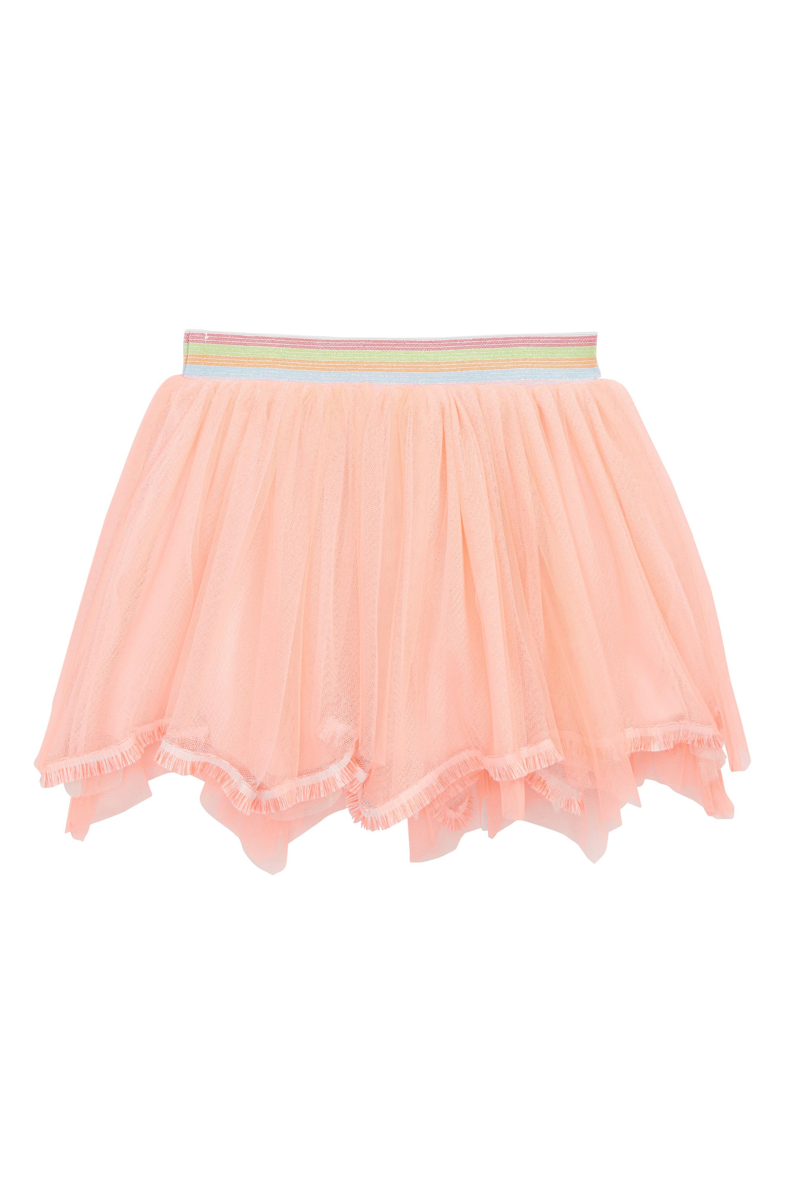 Truly Me Fringed Hem Tutu Skirt (Toddler Girls & Little Girls)