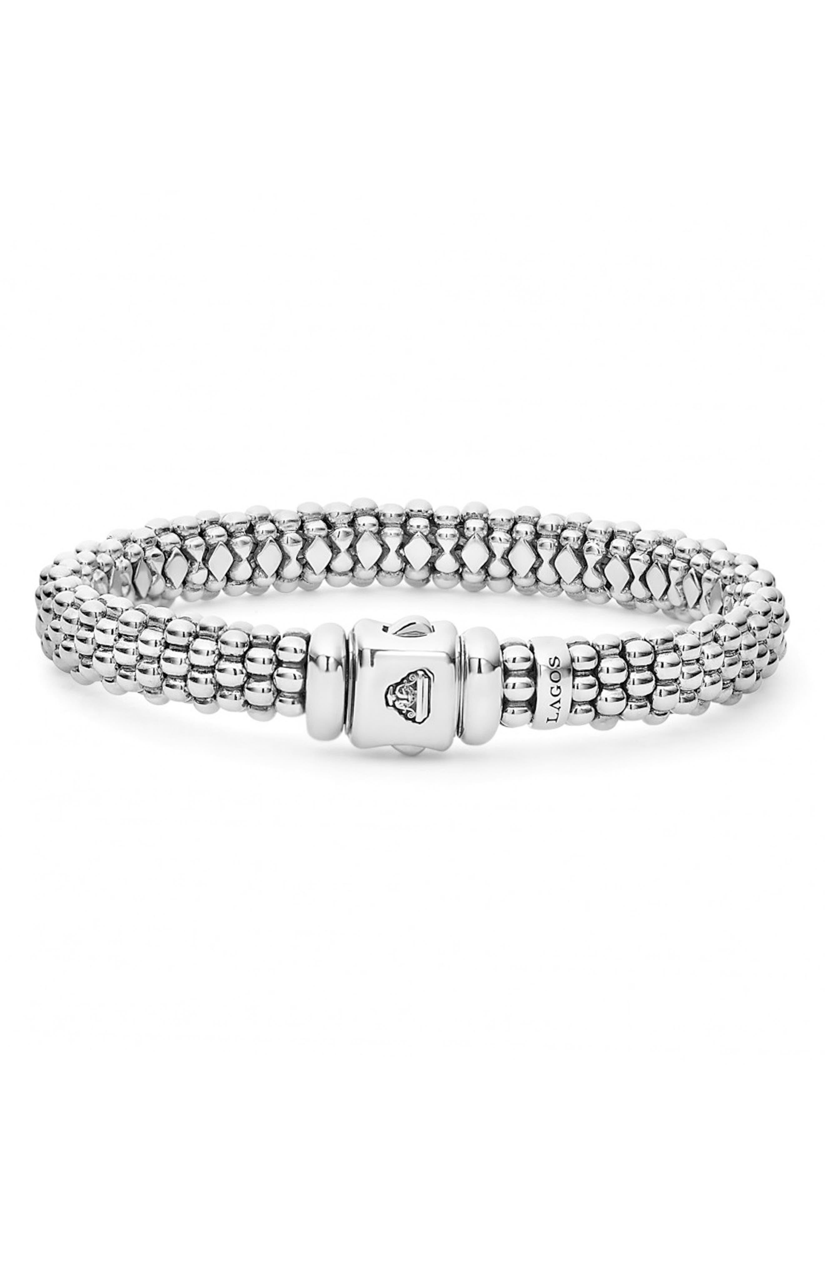 Caviar Rope Bracelet,                             Alternate thumbnail 2, color,                             Silver