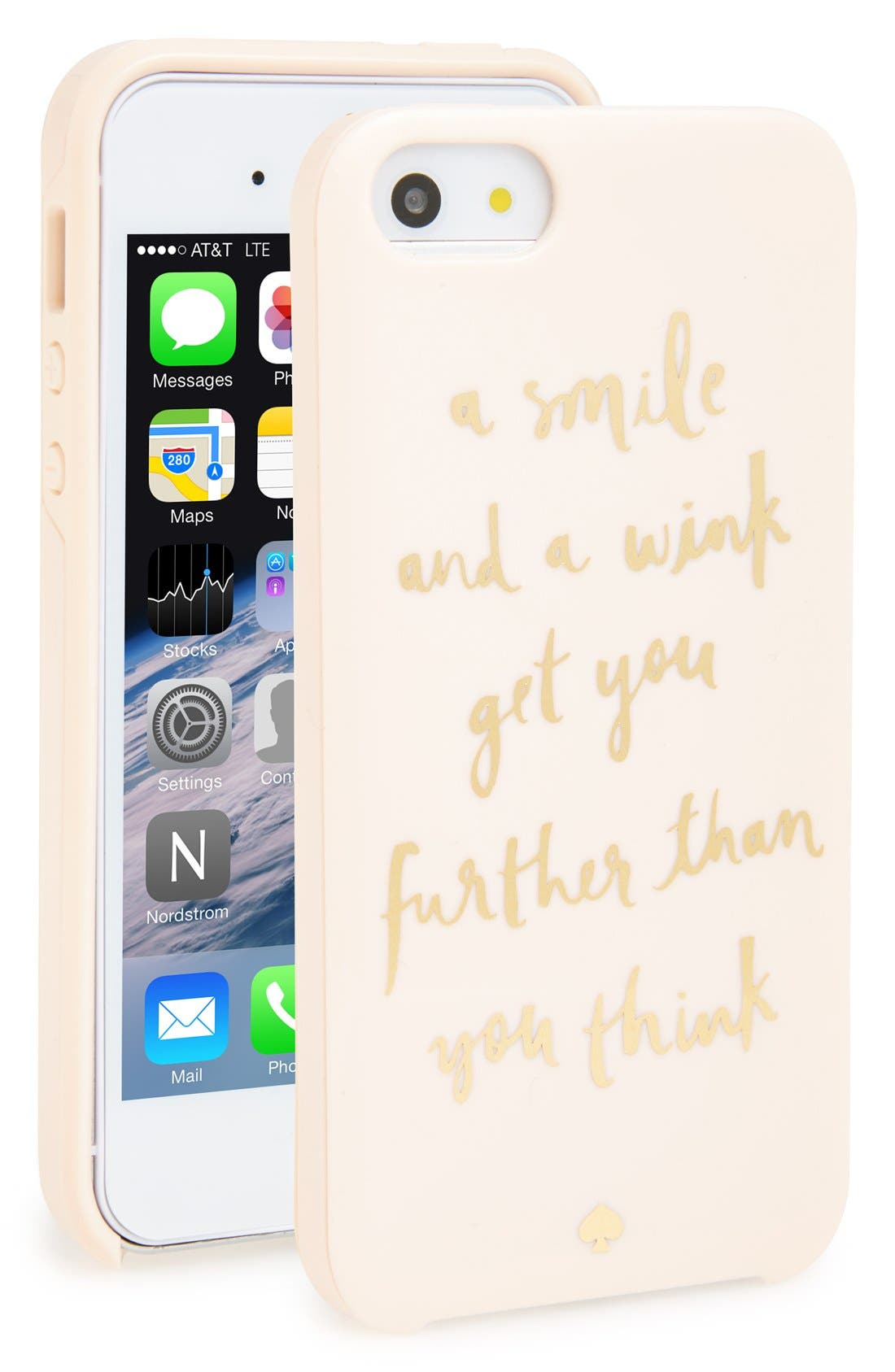 Alternate Image 1 Selected - kate spade new york 'a smile and a wink' iPhone 5& 5s case