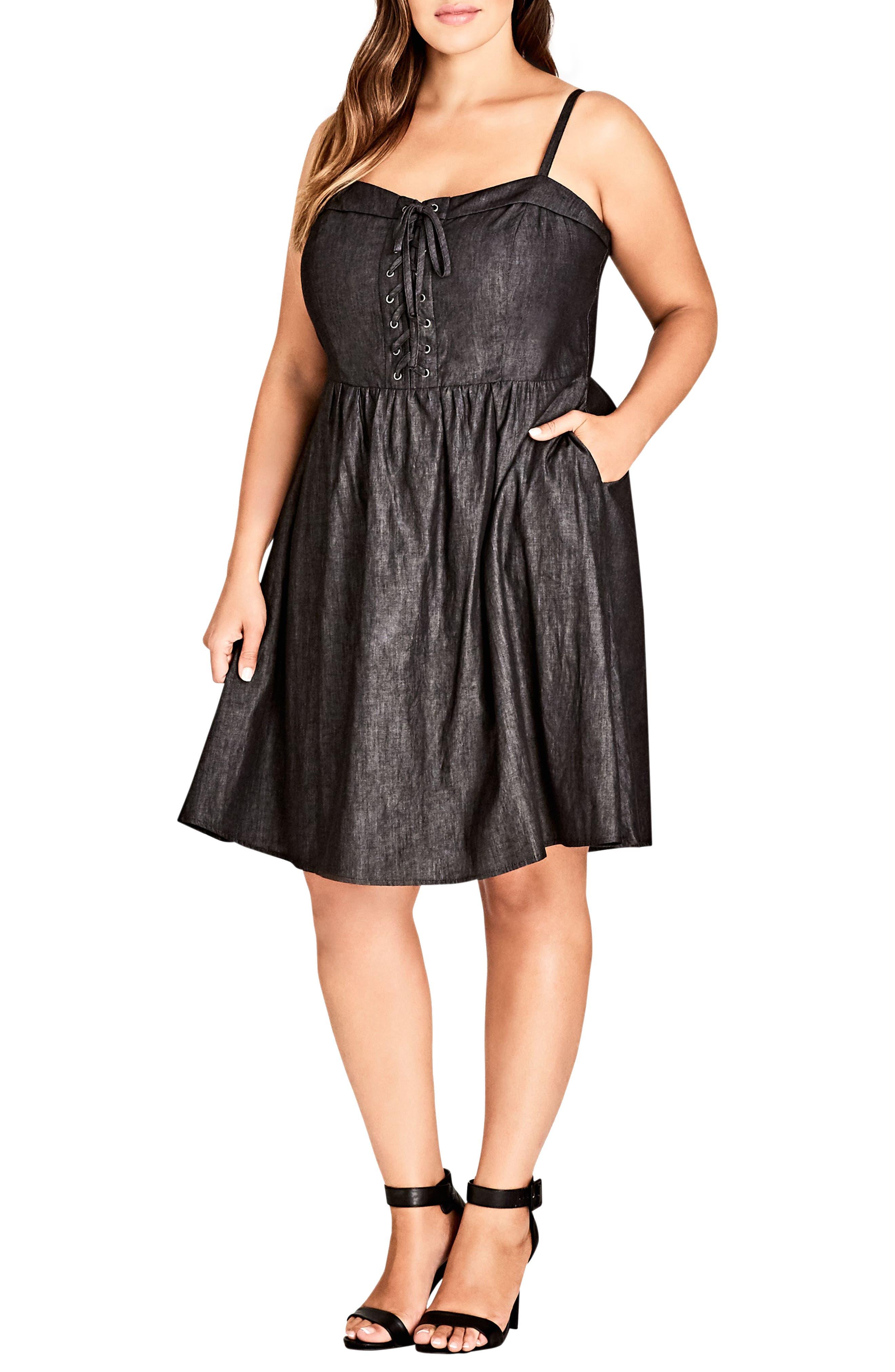 Sweet Feels Dress,                             Main thumbnail 1, color,                             Black