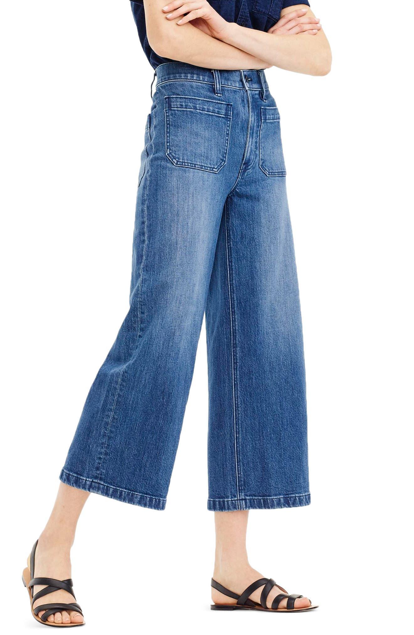 J.Crew Point Sur Wide Leg Crop Jeans