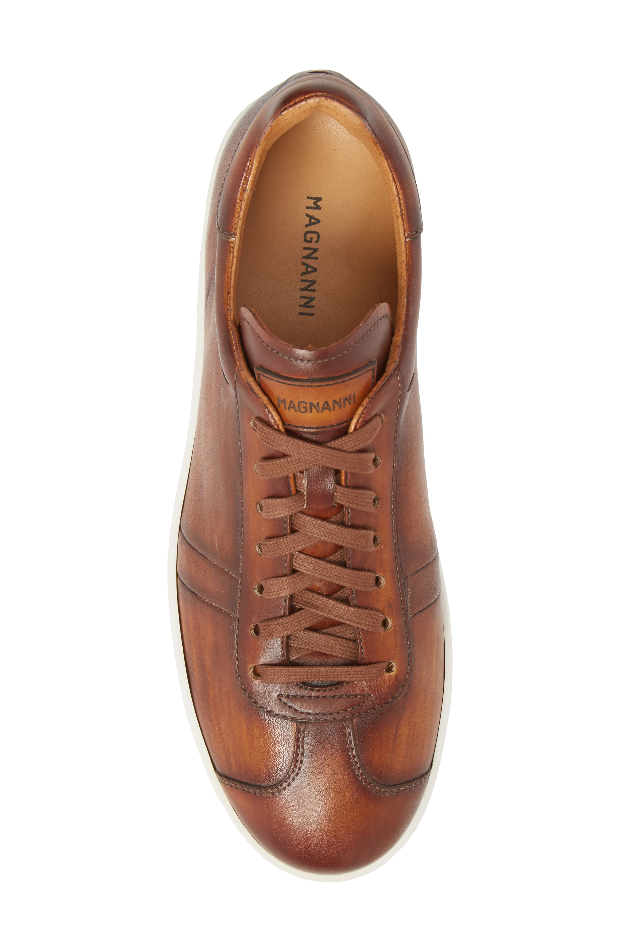 Gunner Low Top Sneaker,                             Alternate thumbnail 5, color,                             Cuero Leather