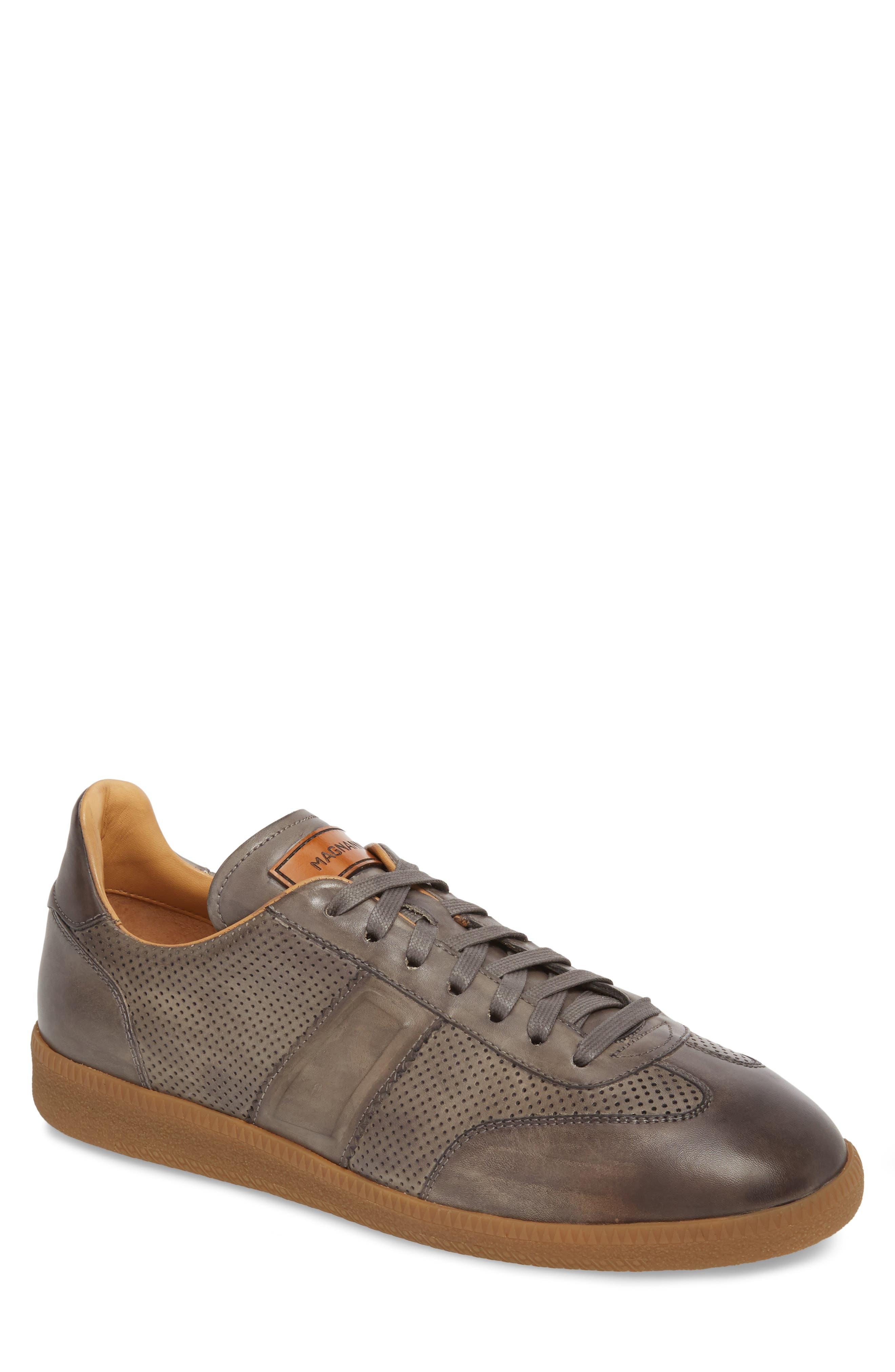 Xavi Embossed Low Top Sneaker,                         Main,                         color, Grey/ Grey Leather