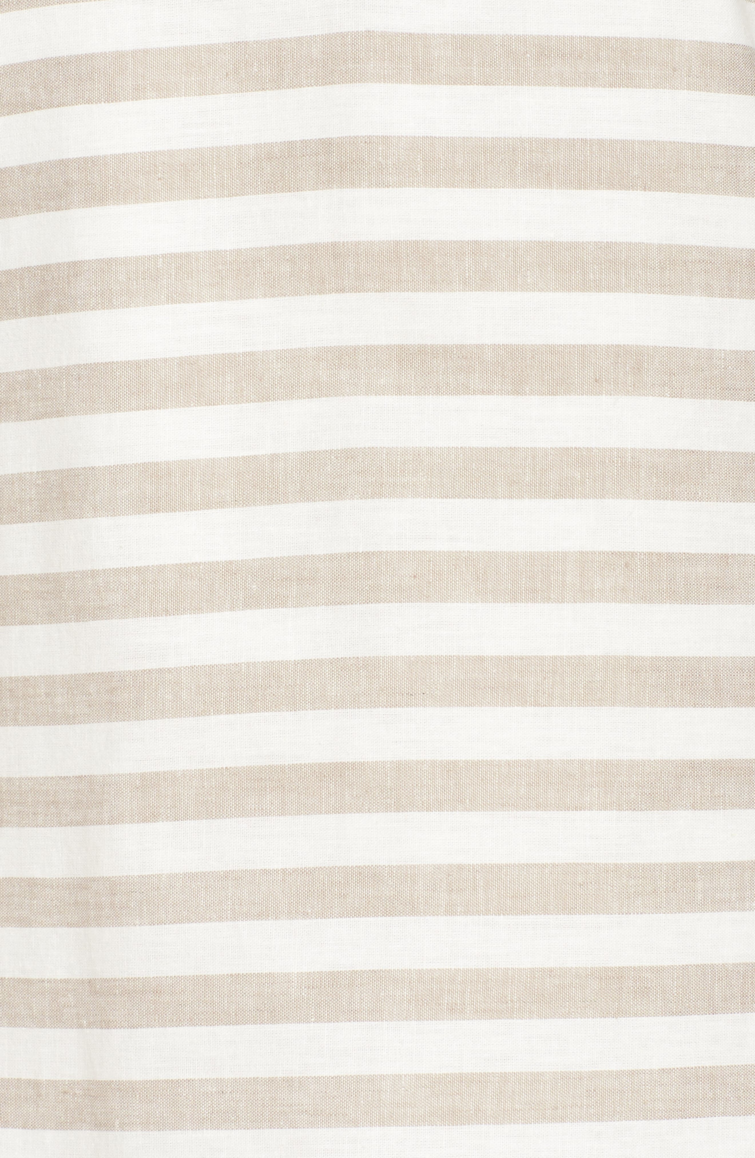 Stripe Linen & Cotton Blend Dress,                             Alternate thumbnail 6, color,                             Natural