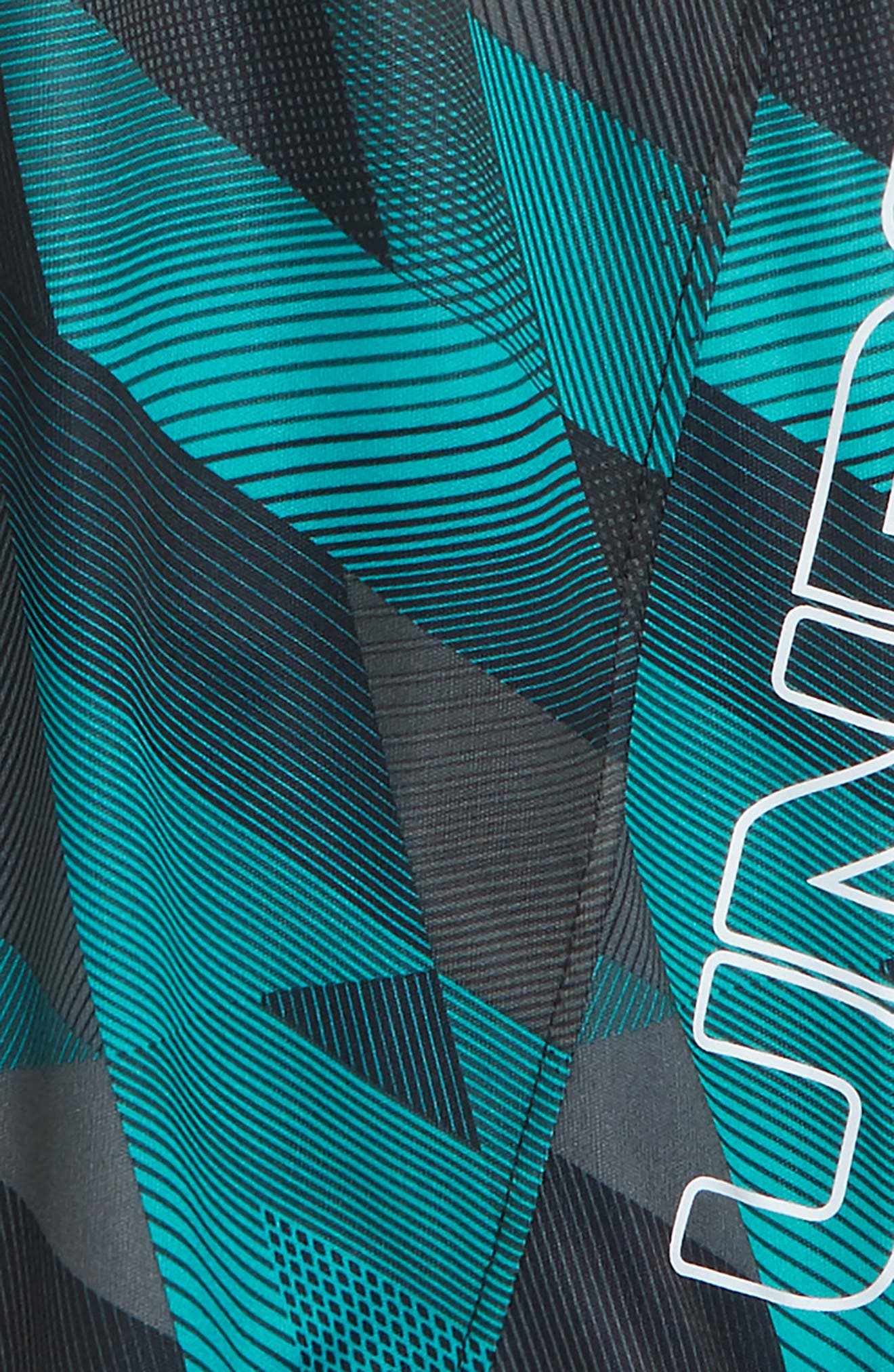 Electric Field HeatGear<sup>®</sup> Volley Shorts,                             Alternate thumbnail 2, color,                             Teal Punch