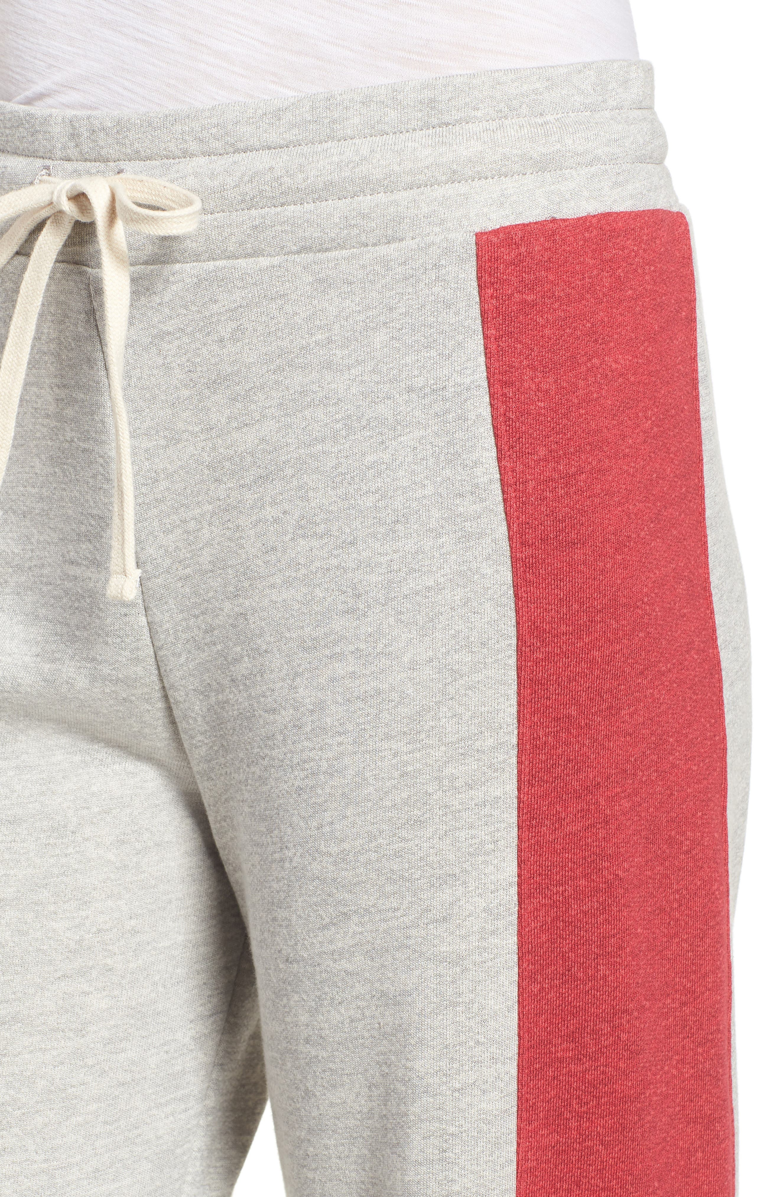 Terry Colorblock Sweatpants,                             Alternate thumbnail 4, color,                             Heather Grey