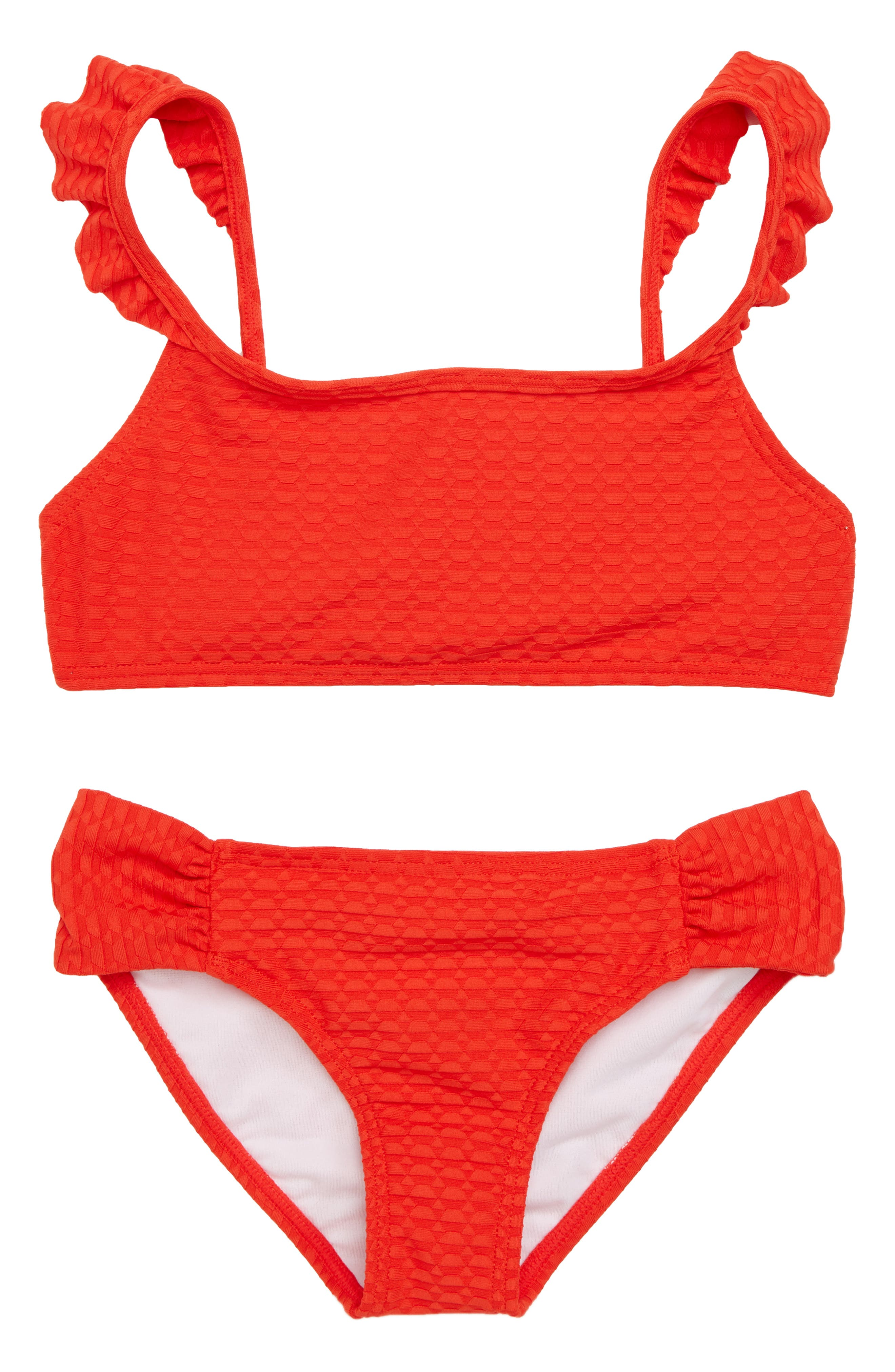 Makin Shapes Two-Piece Swimsuit,                         Main,                         color, Poppy