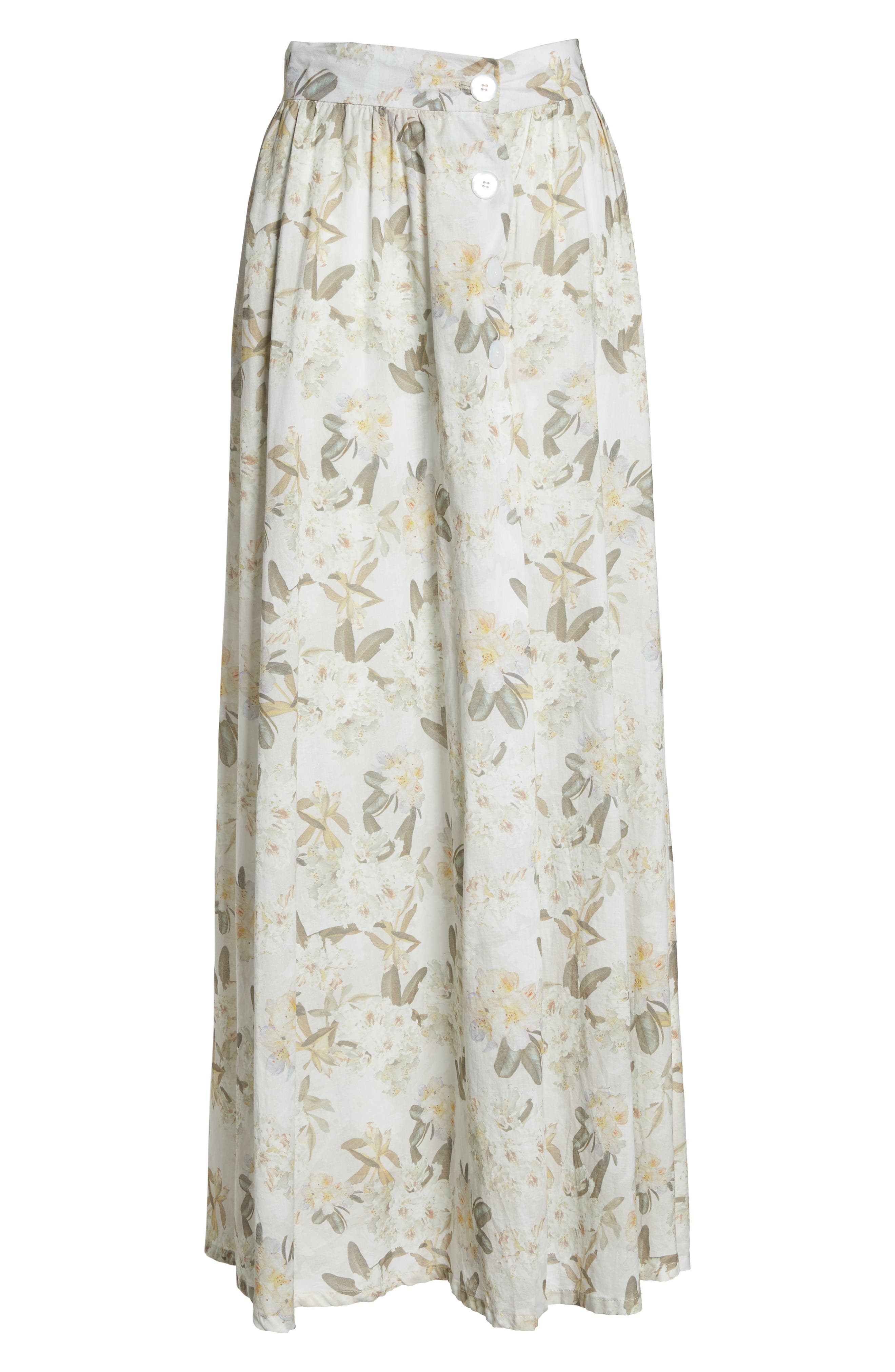 Edith Cover-Up Maxi Skirt,                             Alternate thumbnail 6, color,                             Ete Floral White