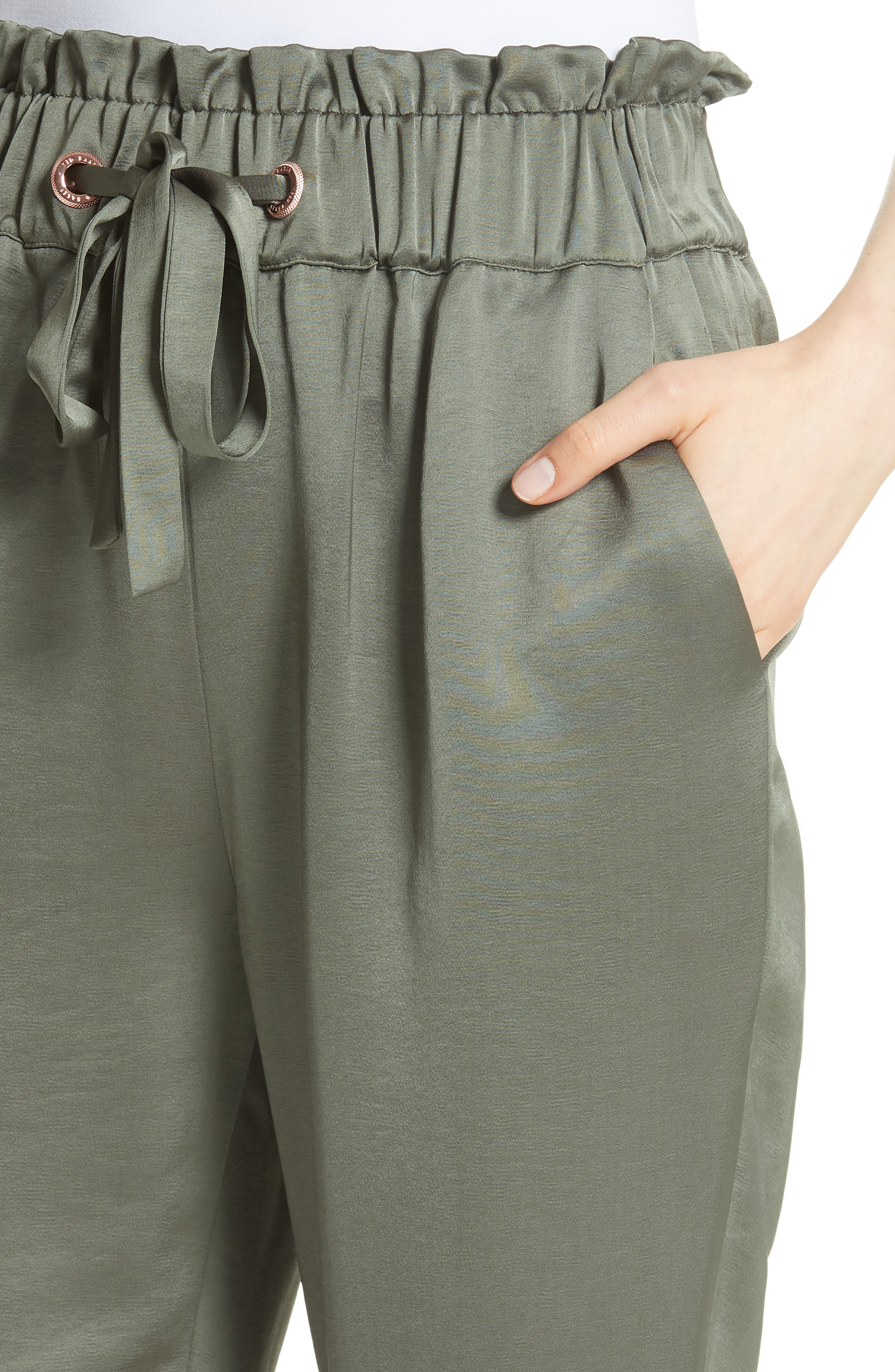 Alternate Image 4  - Ted Baker London Nayarmi Paperbag Waist Jogger Pants