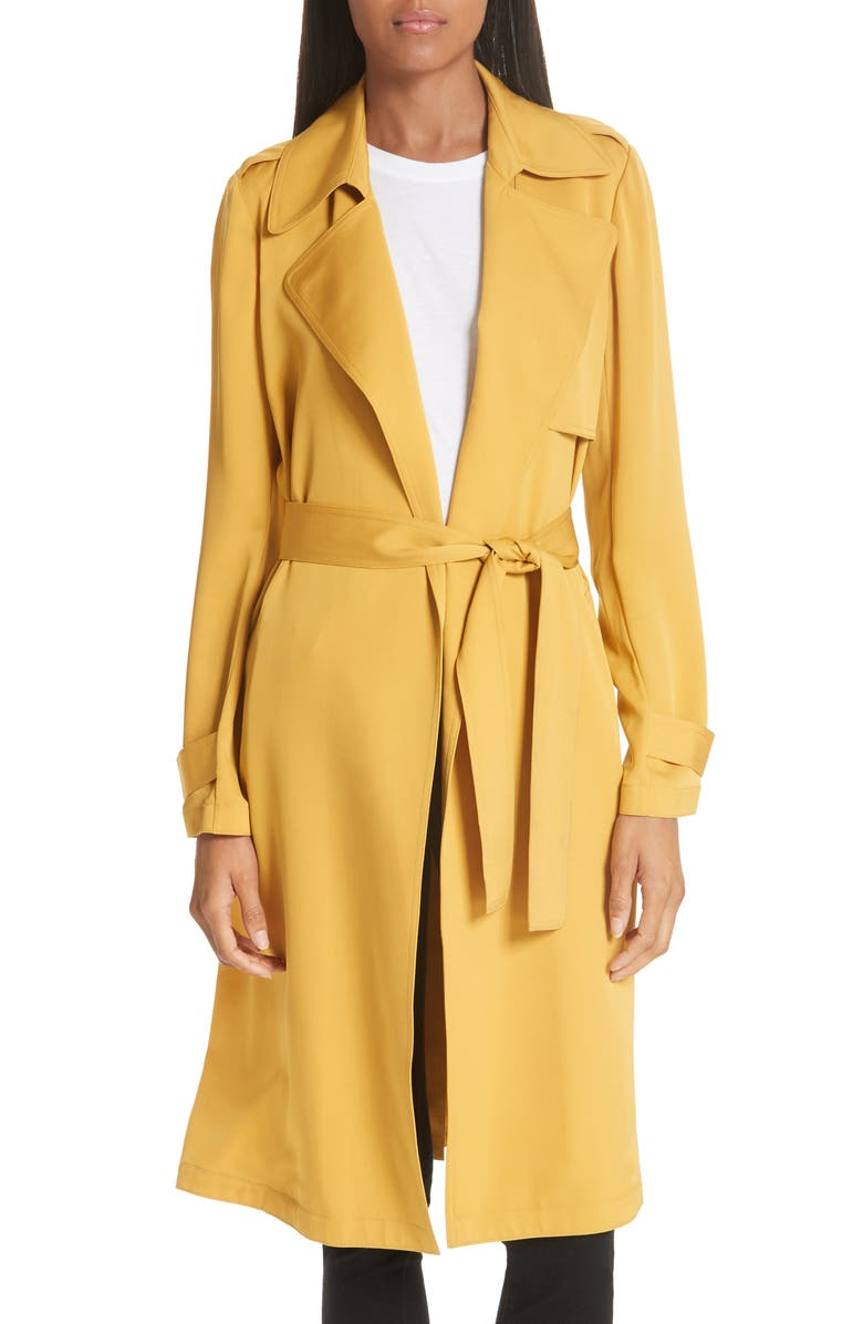 Oaklane Modern Silk Trench Coat