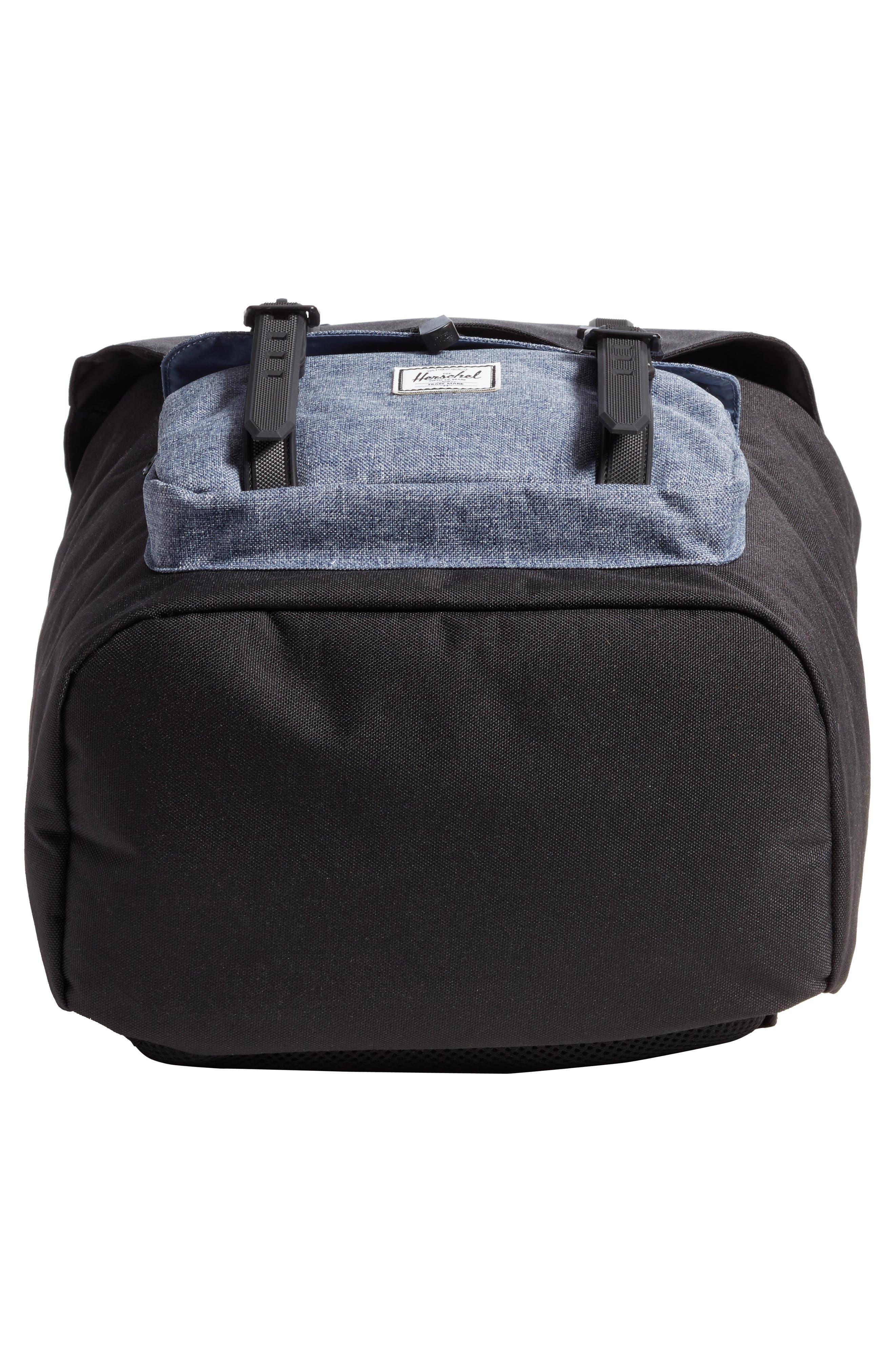 Little America - Chambray Backpack,                             Alternate thumbnail 6, color,                             Black/ Dark Chambray
