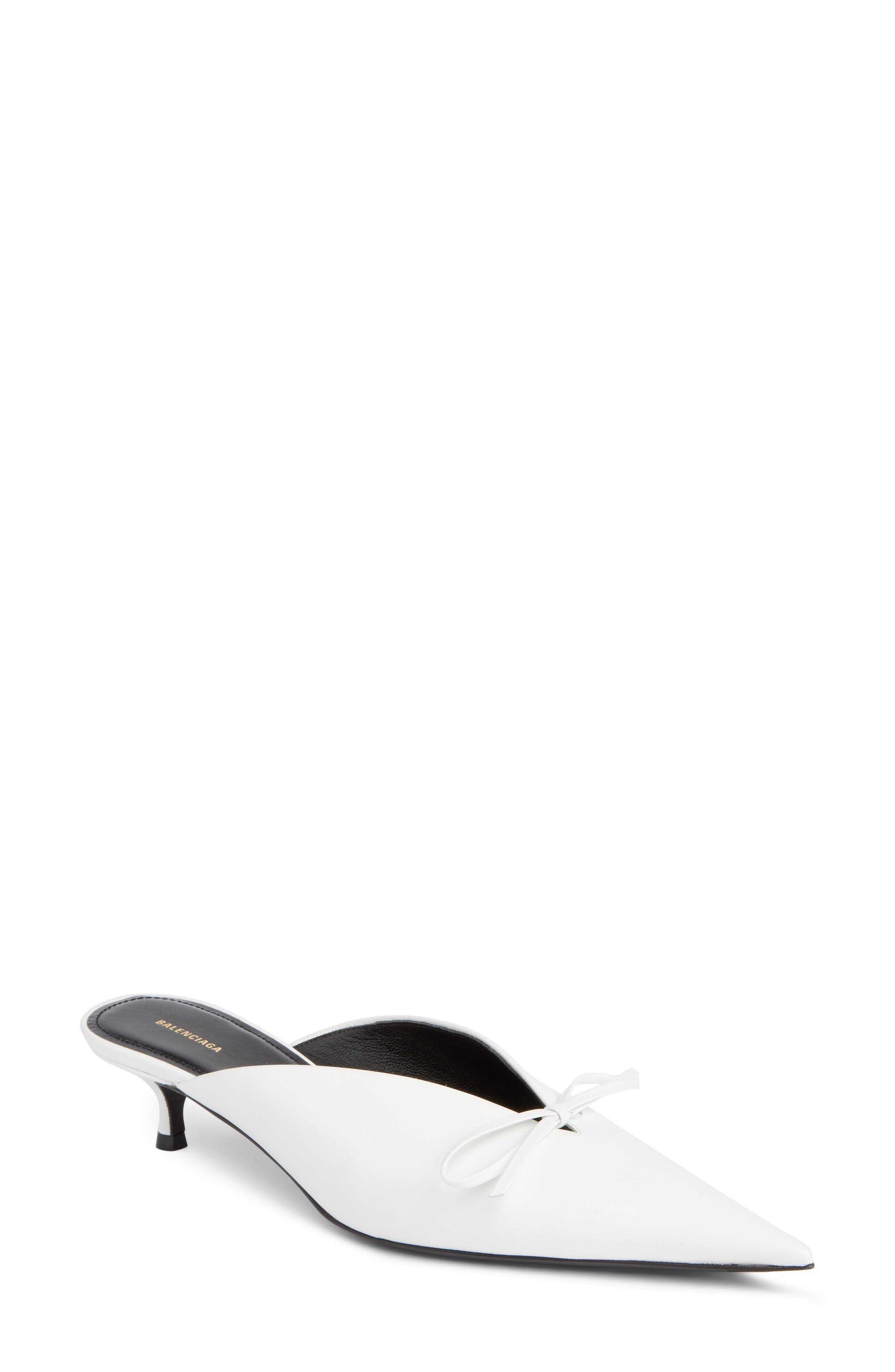Balenciaga Bow Pointy Toe Mule (Women)
