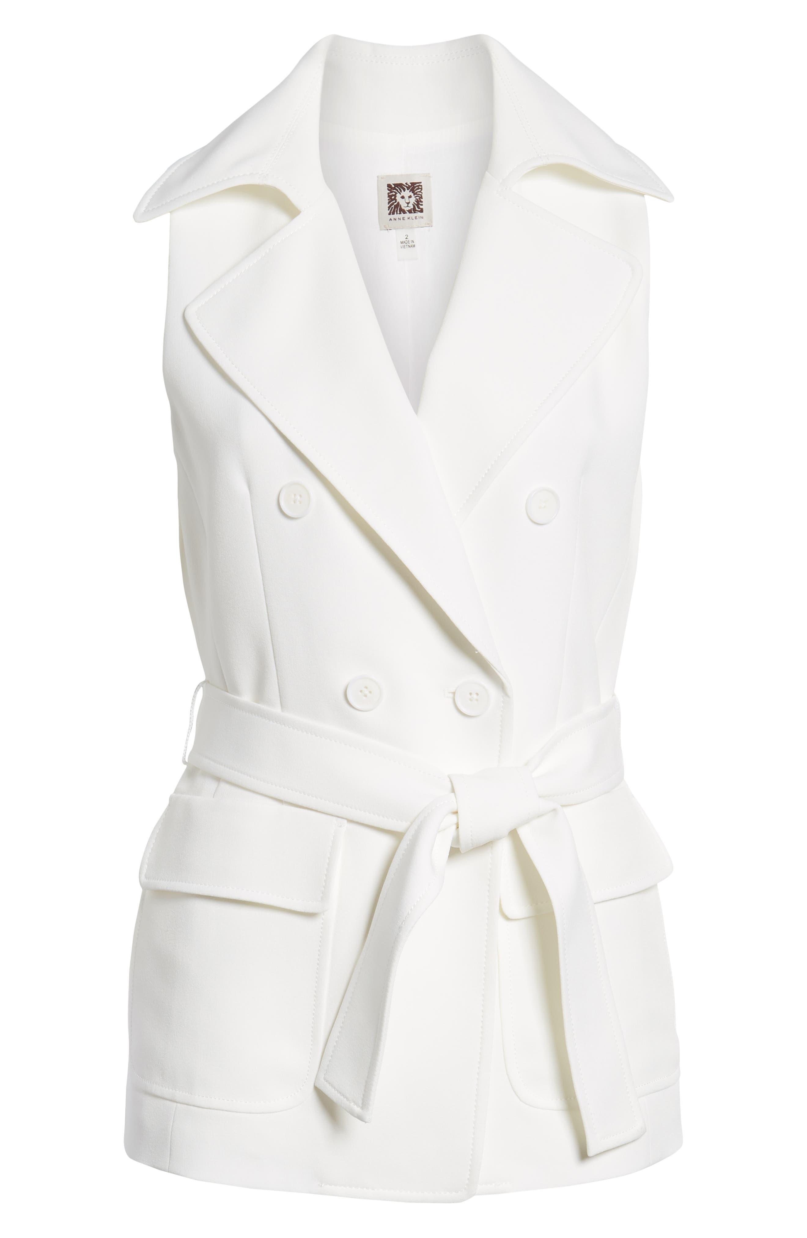 Tie Front Vest,                             Alternate thumbnail 7, color,                             White
