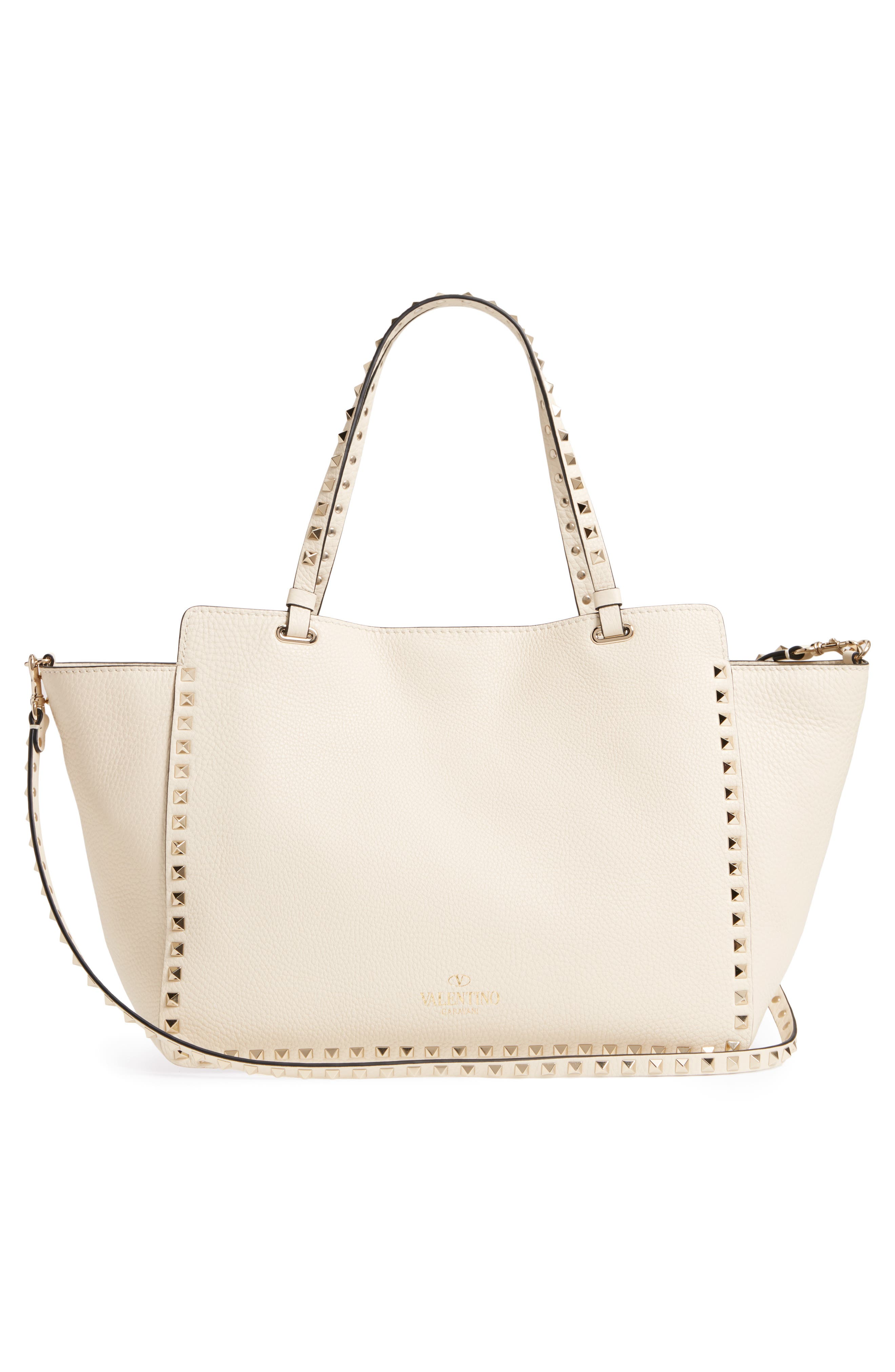 Alternate Image 3  - VALENTINO GARAVANI Medium Rockstud Leather Double Handle Tote