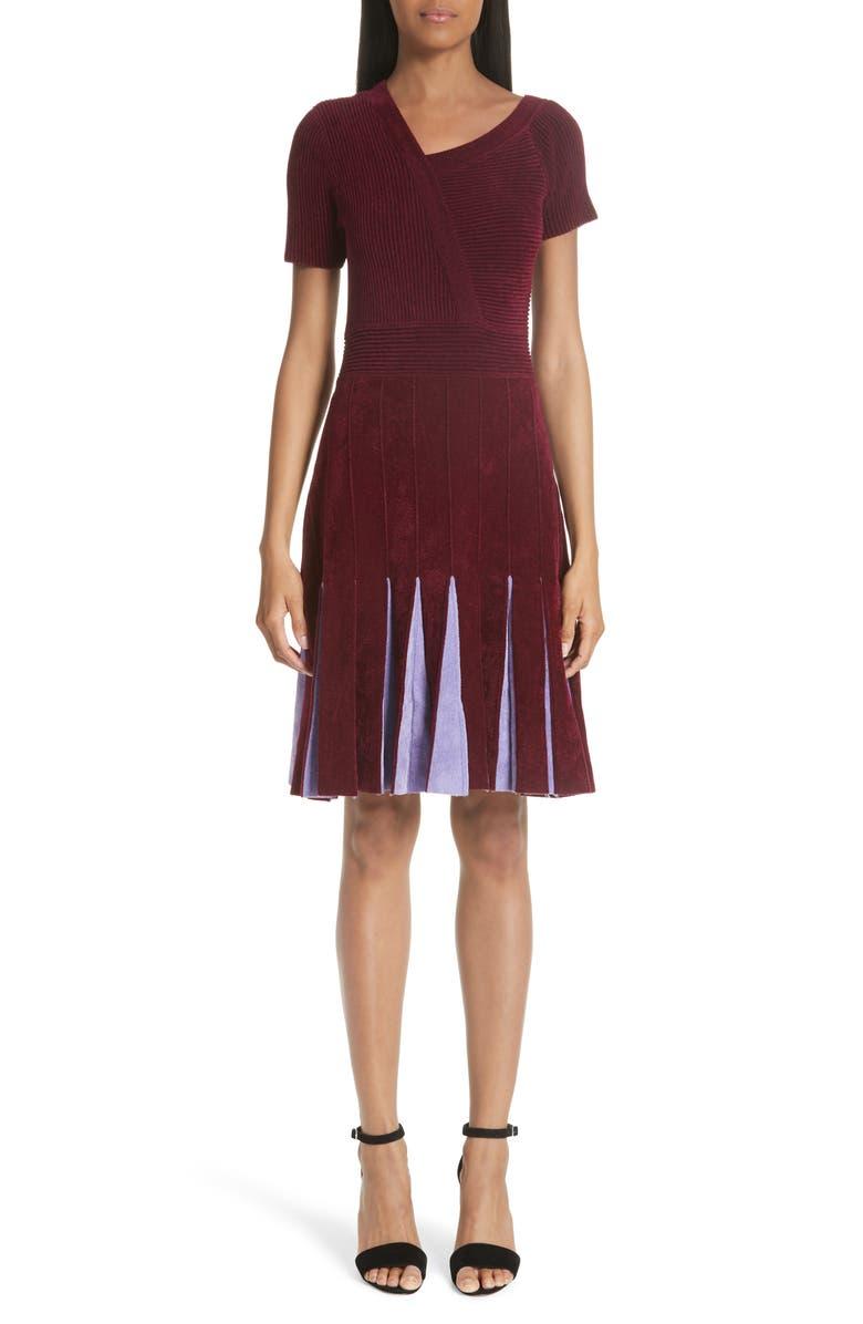 Asymmetrical Chenille Dress