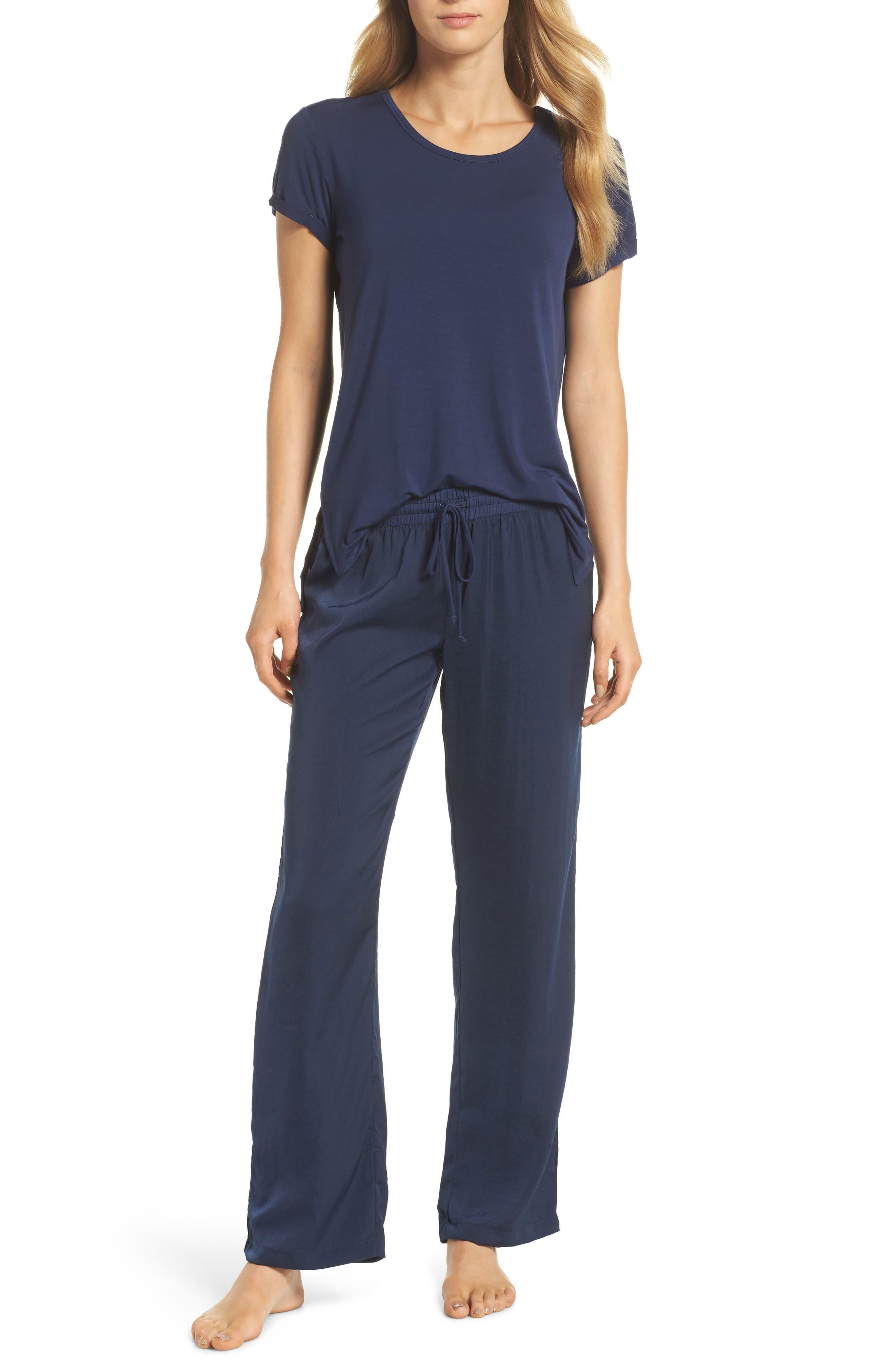 Pajama Pants,                             Alternate thumbnail 4, color,                             Navy