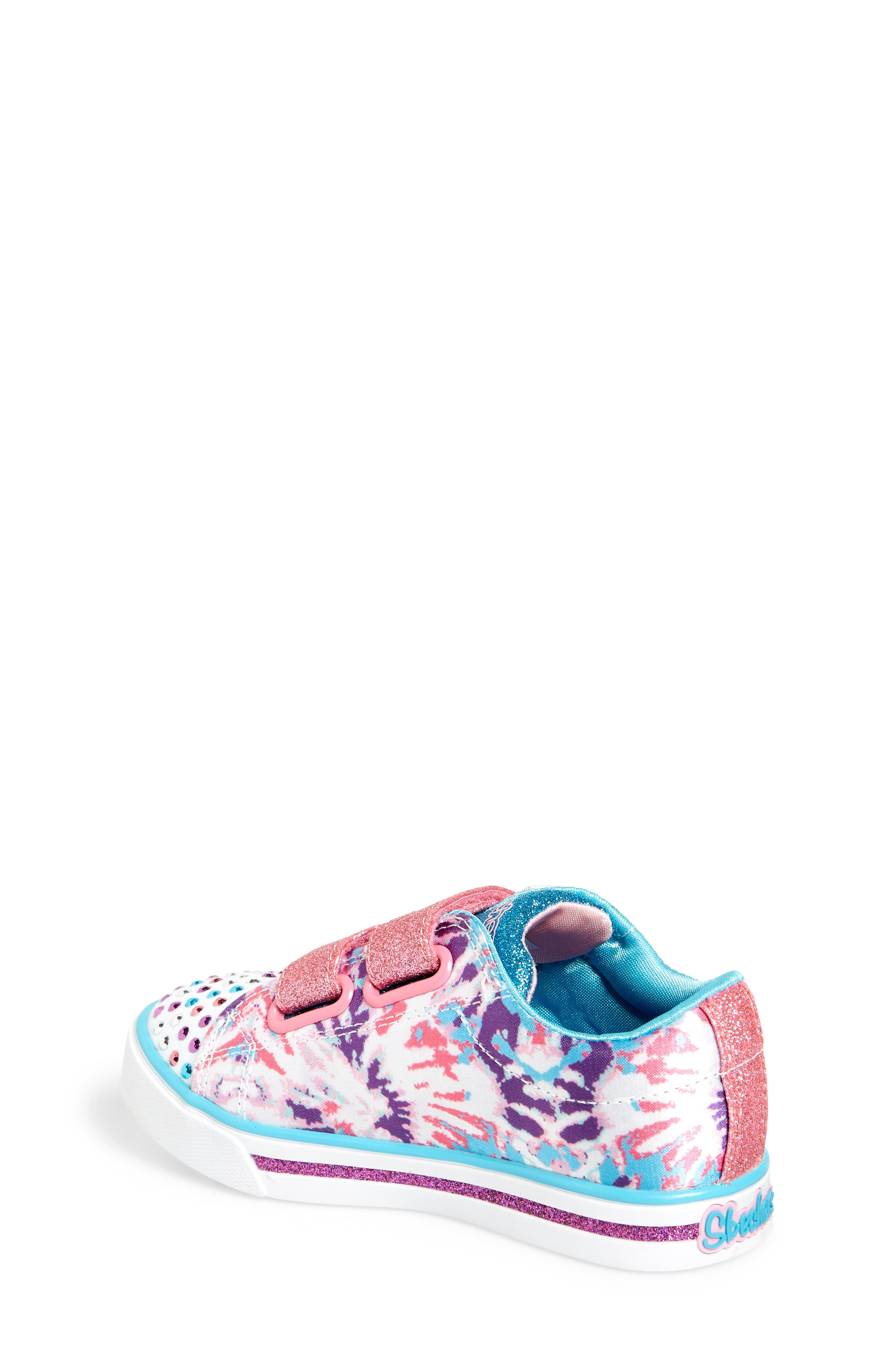 Sparkle Glitz Lil Dazzle Sneaker,                             Alternate thumbnail 2, color,                             White/ Multi