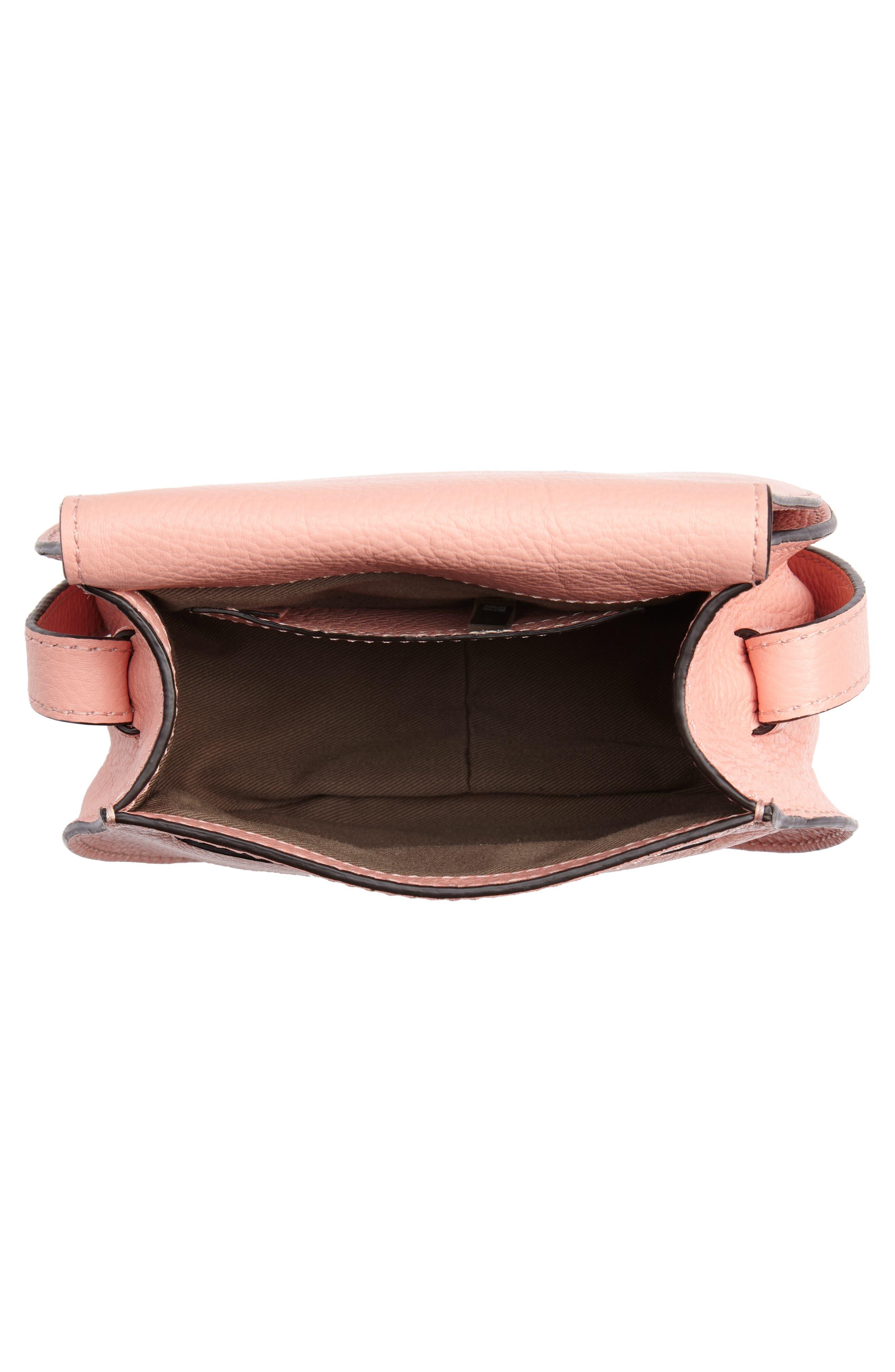 'Mini Marcie' Leather Crossbody Bag,                             Alternate thumbnail 4, color,                             Ideal Blush