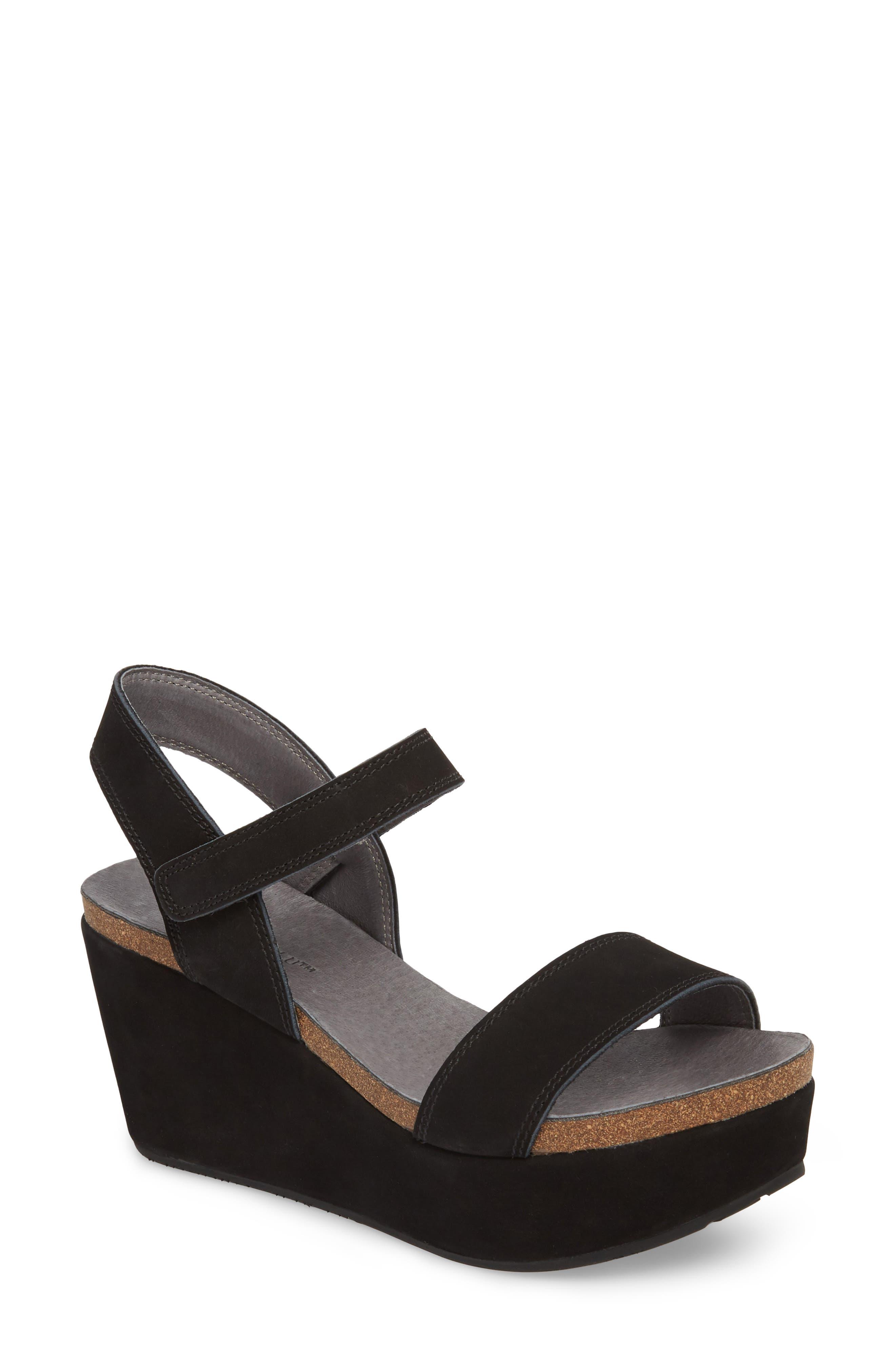 Chocolat Blu Watson Ankle Strap Wedge Sandal (Women)