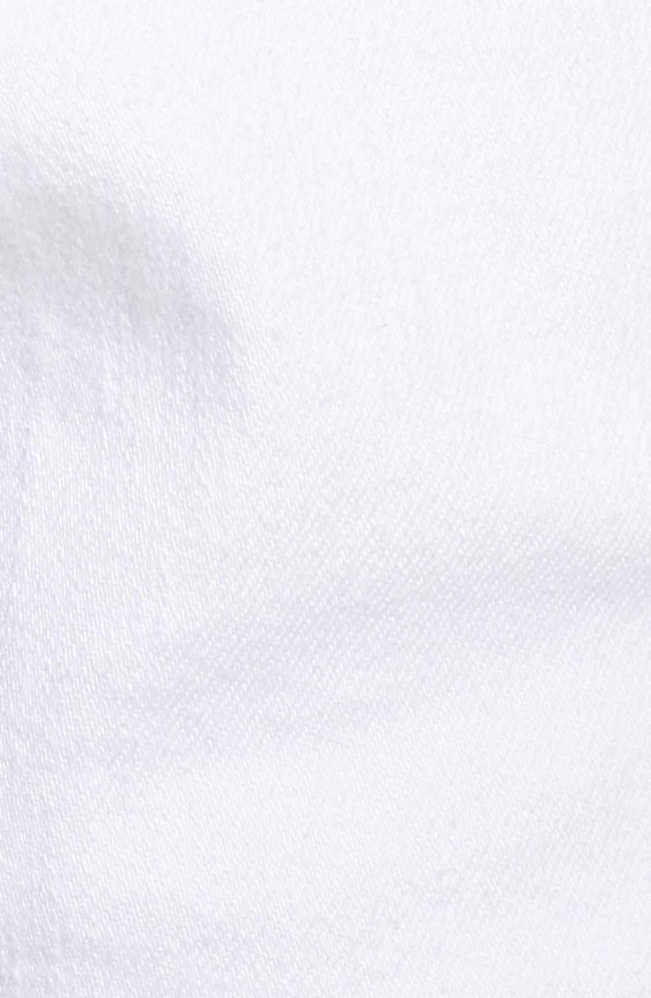 Rolled Denim Shorts,                             Alternate thumbnail 5, color,                             White