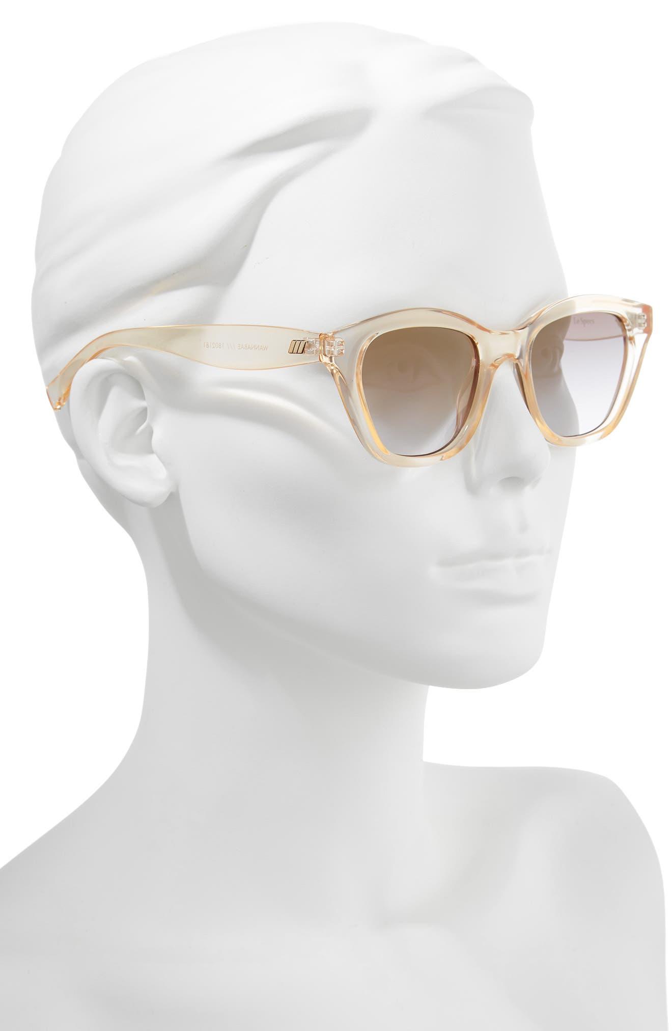 Wannabae 49mm Angular Sunglasses,                             Alternate thumbnail 2, color,                             Blonde