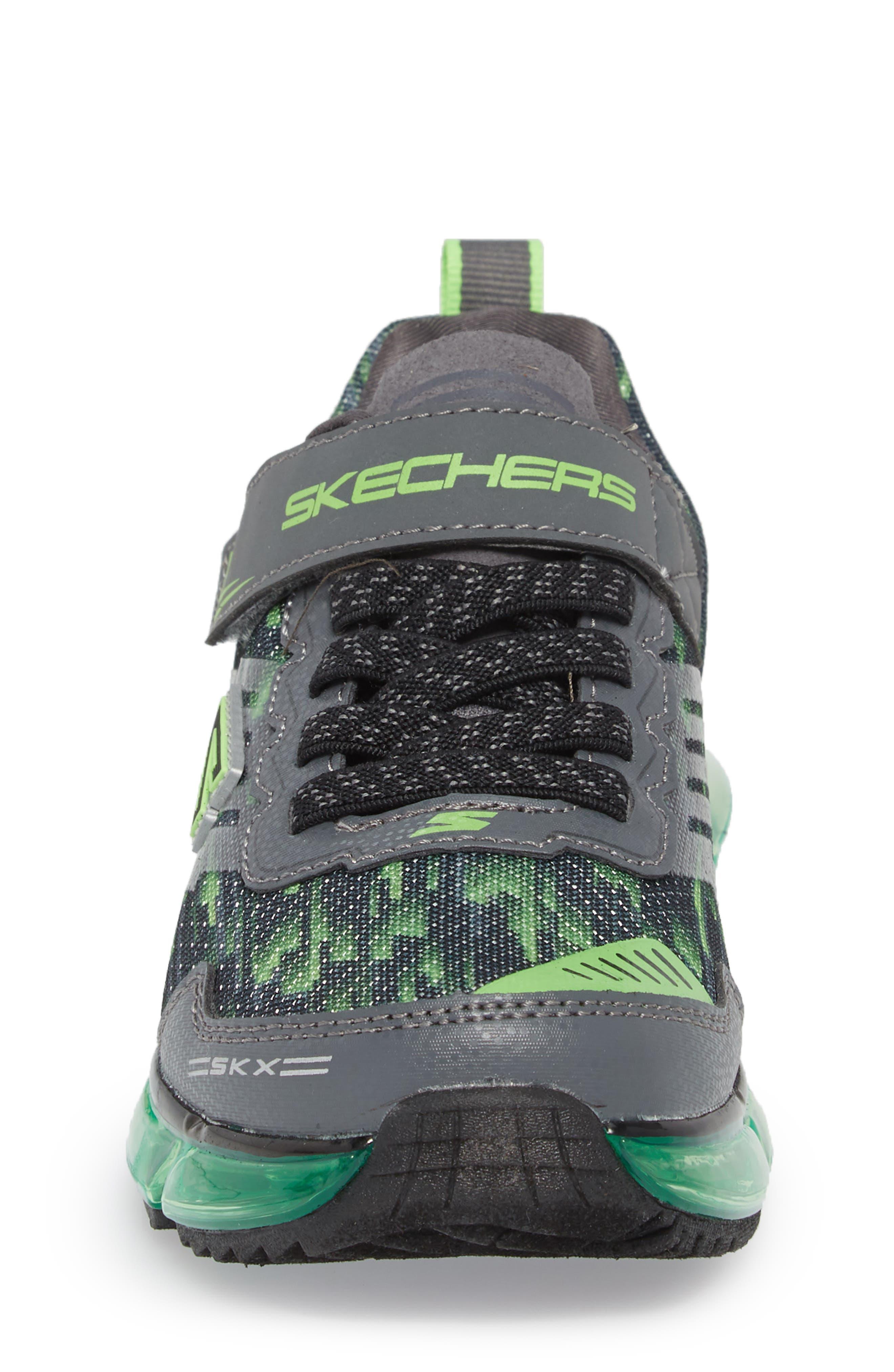 Skech-Air Mega Sneaker,                             Alternate thumbnail 4, color,                             Black/ Charcoal/ Lime
