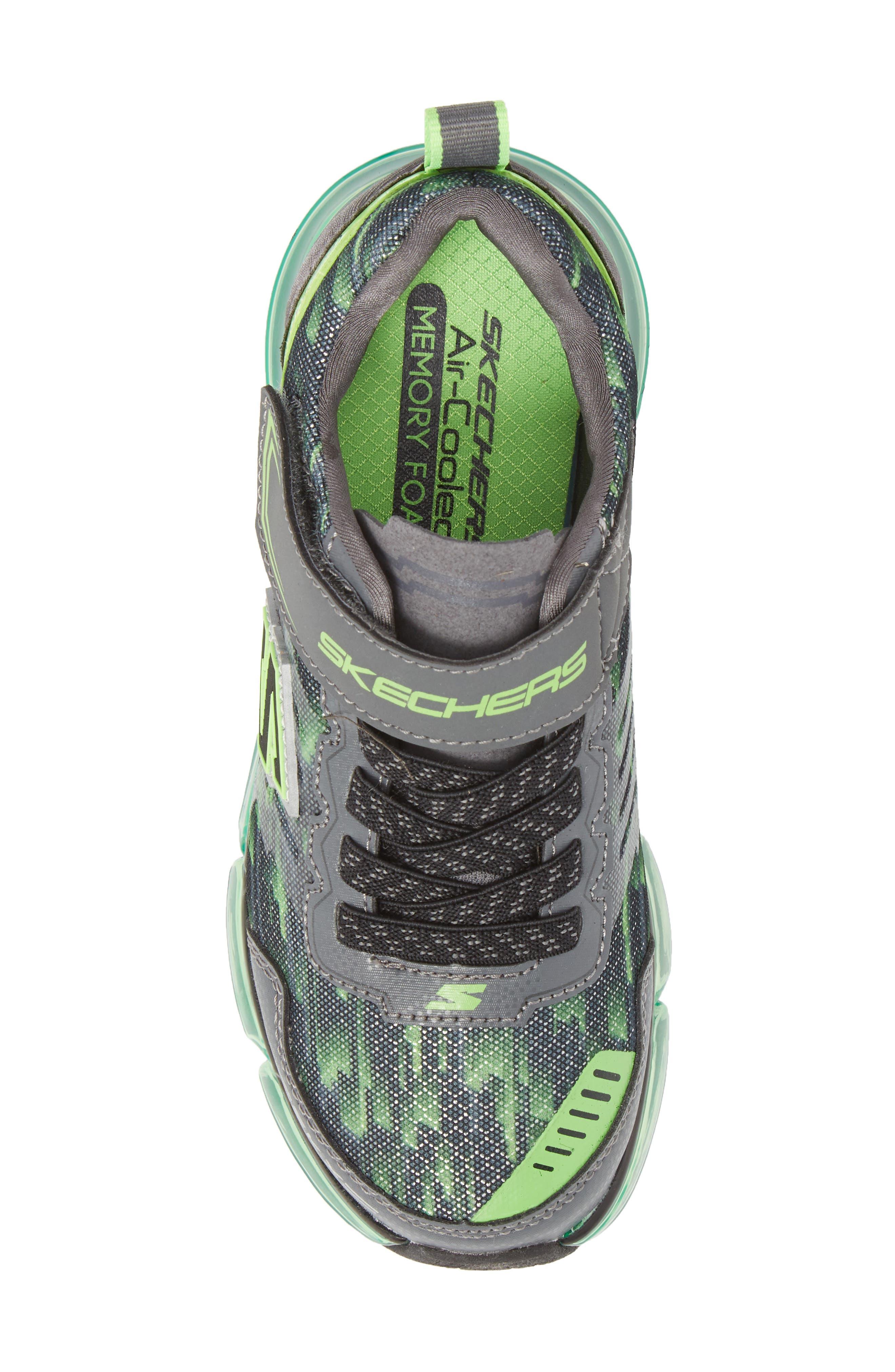 Skech-Air Mega Sneaker,                             Alternate thumbnail 5, color,                             Black/ Charcoal/ Lime
