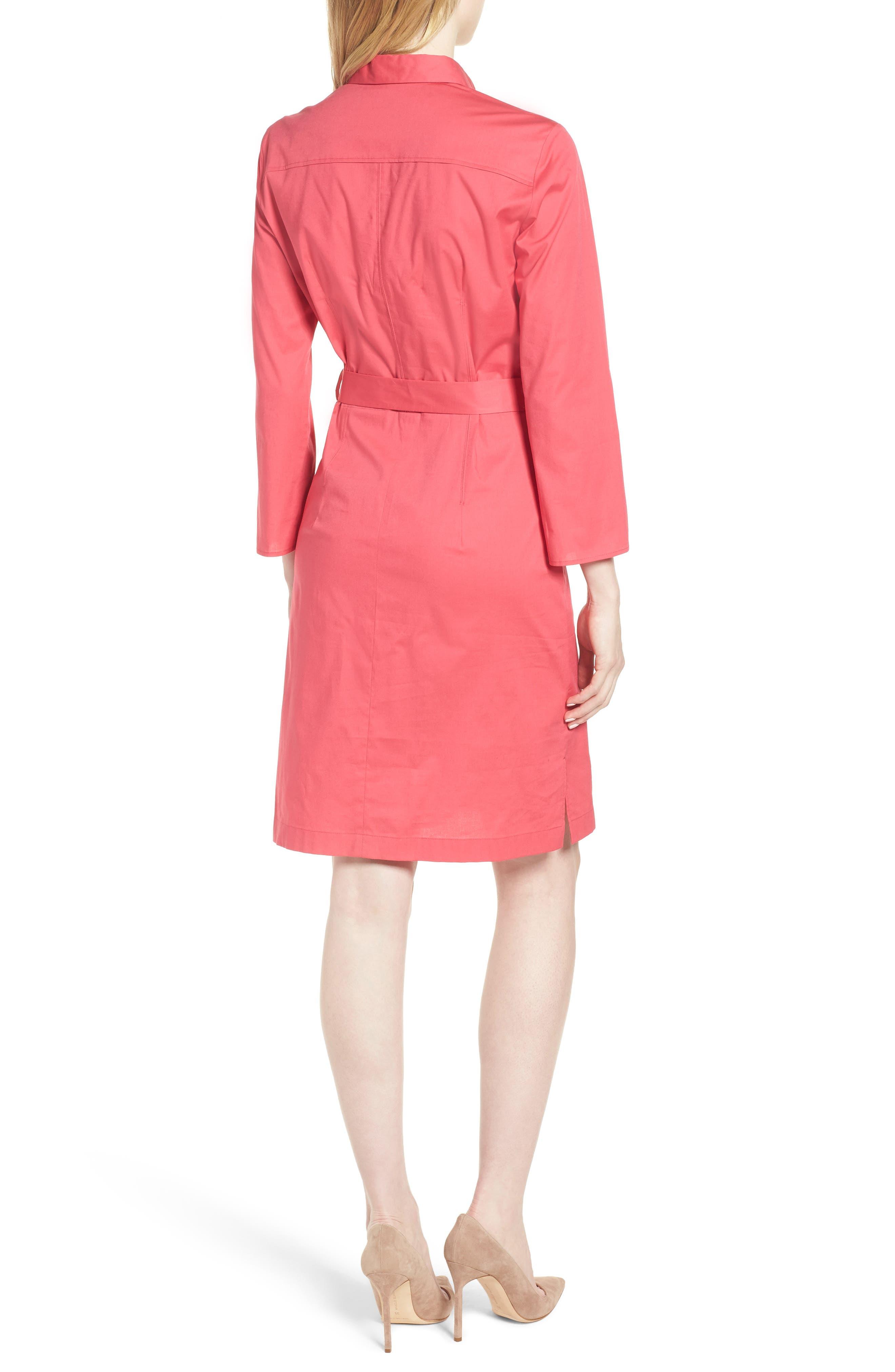 Dashiri Stretch Poplin Dress,                             Alternate thumbnail 2, color,                             Lychee Pink