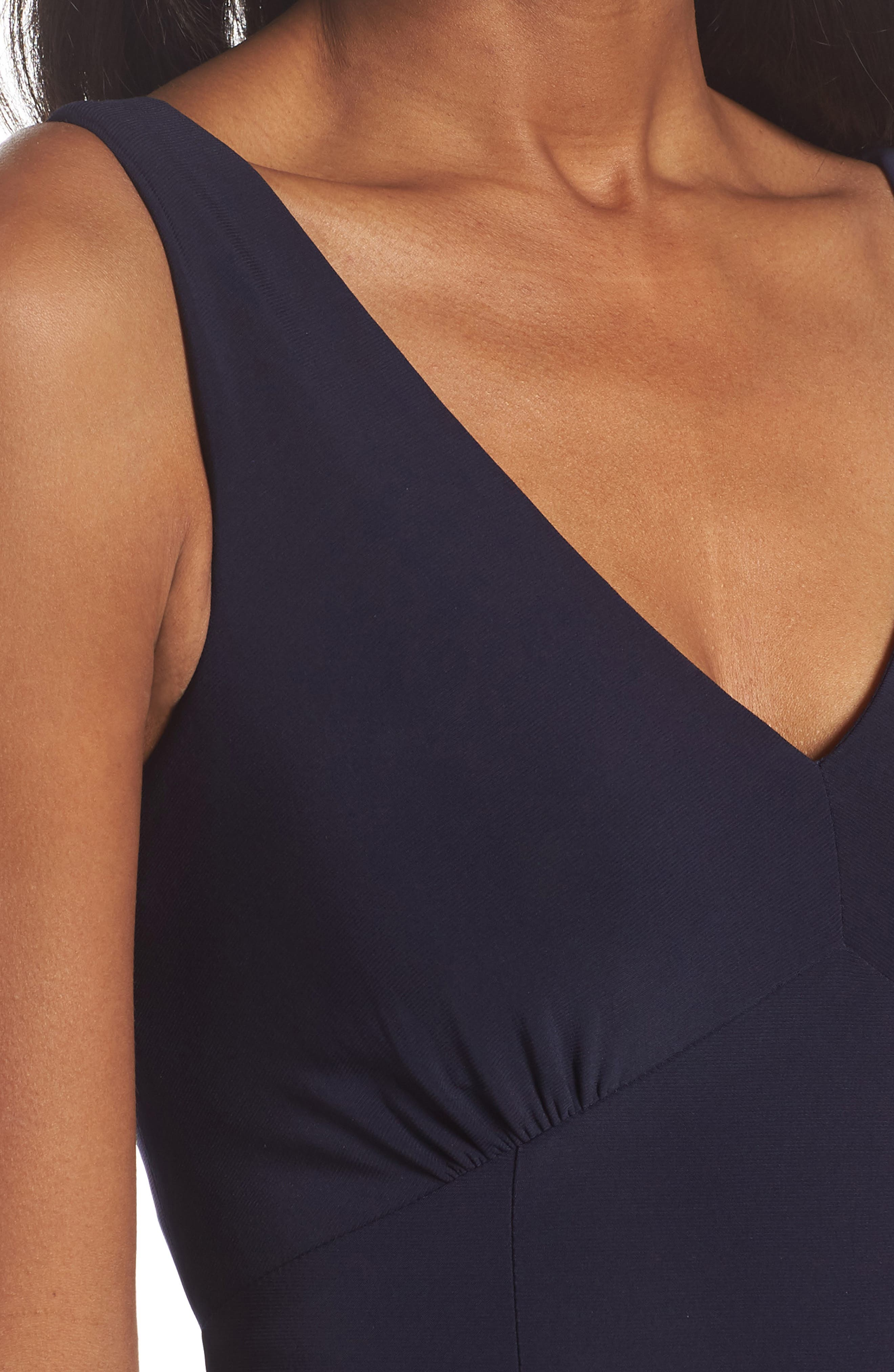 Open Back Gown,                             Alternate thumbnail 4, color,                             Navy