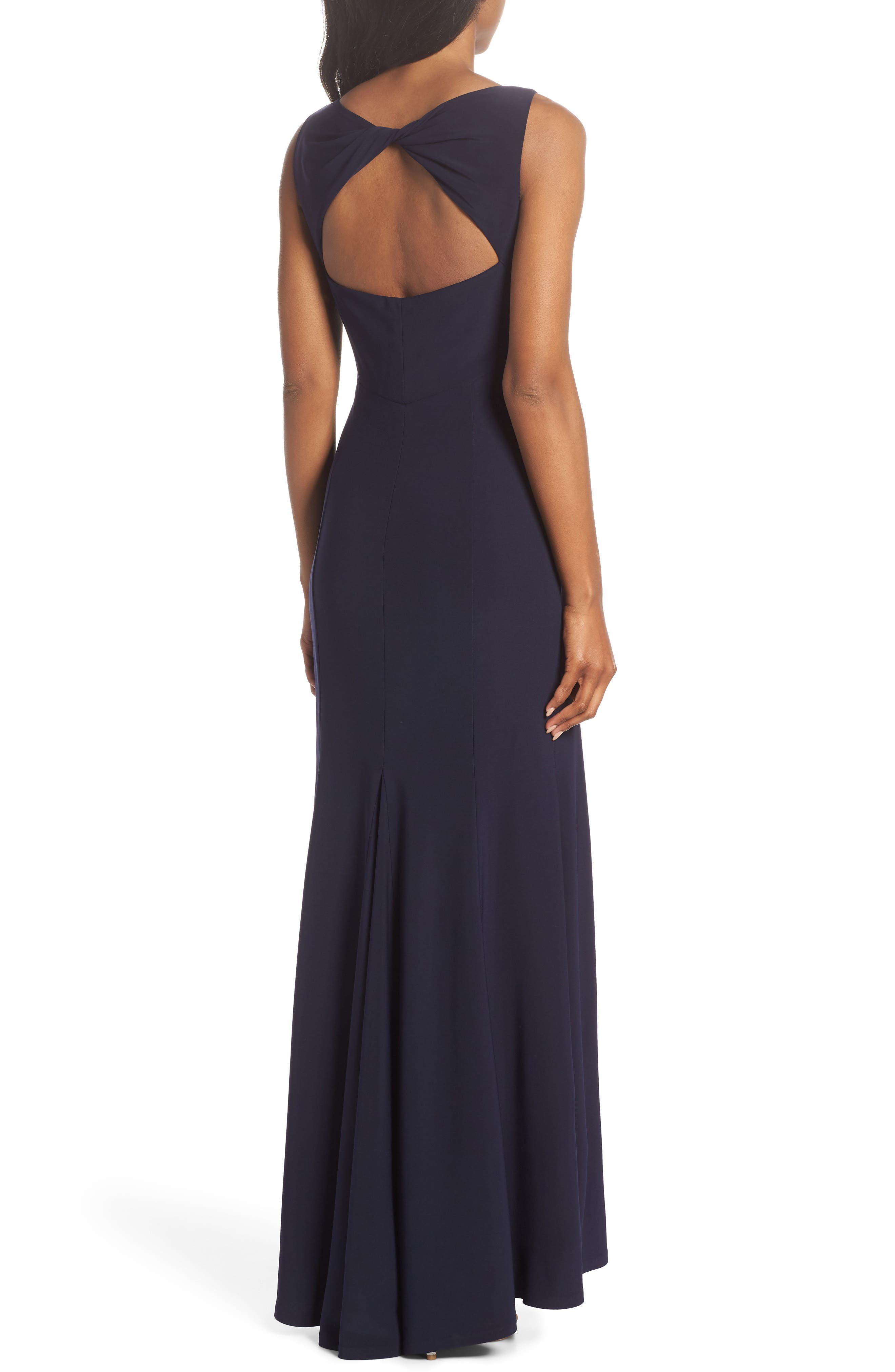 Open Back Gown,                             Alternate thumbnail 2, color,                             Navy