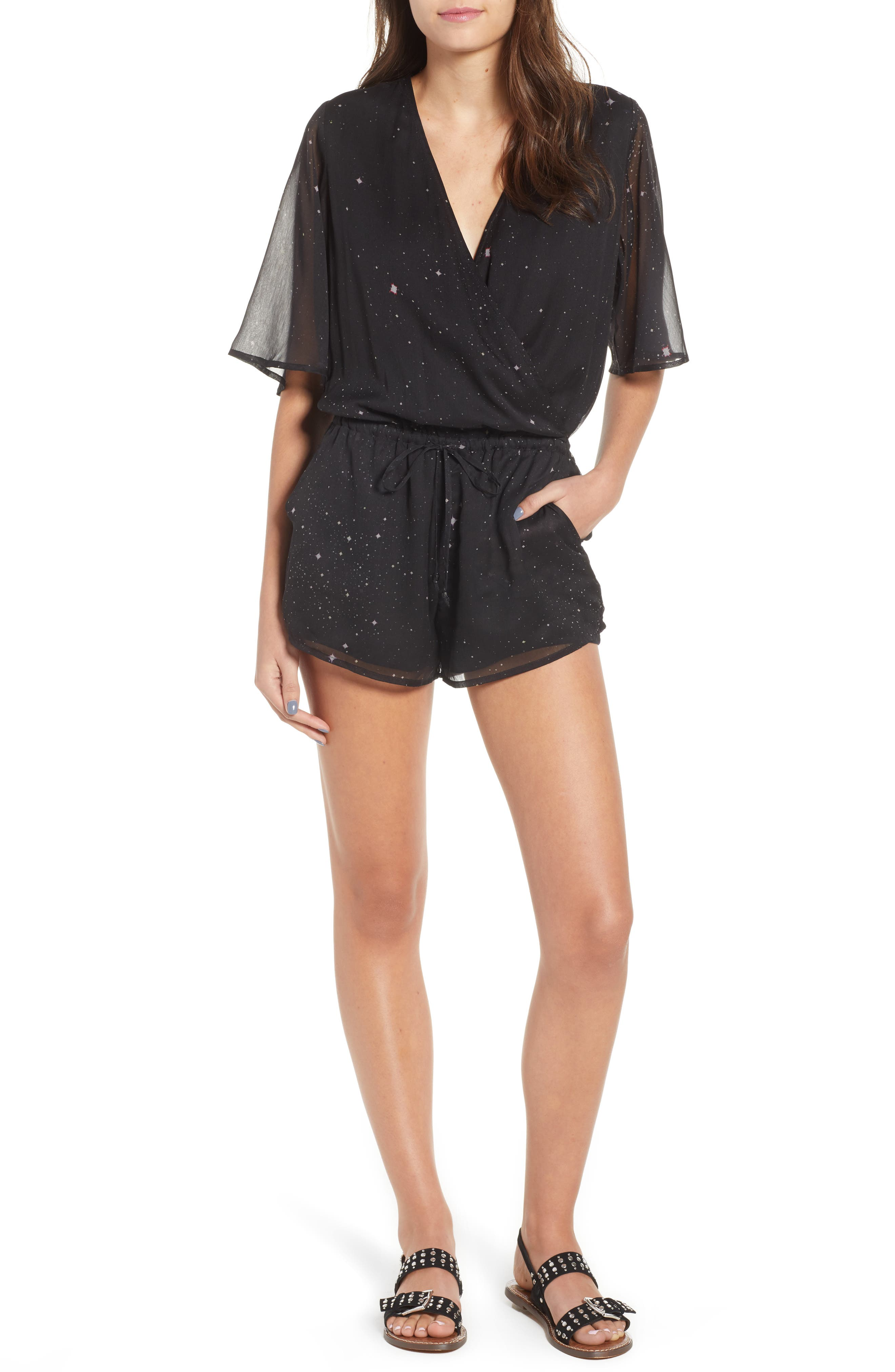 Stone Row Hook It Up Chiffon Romper