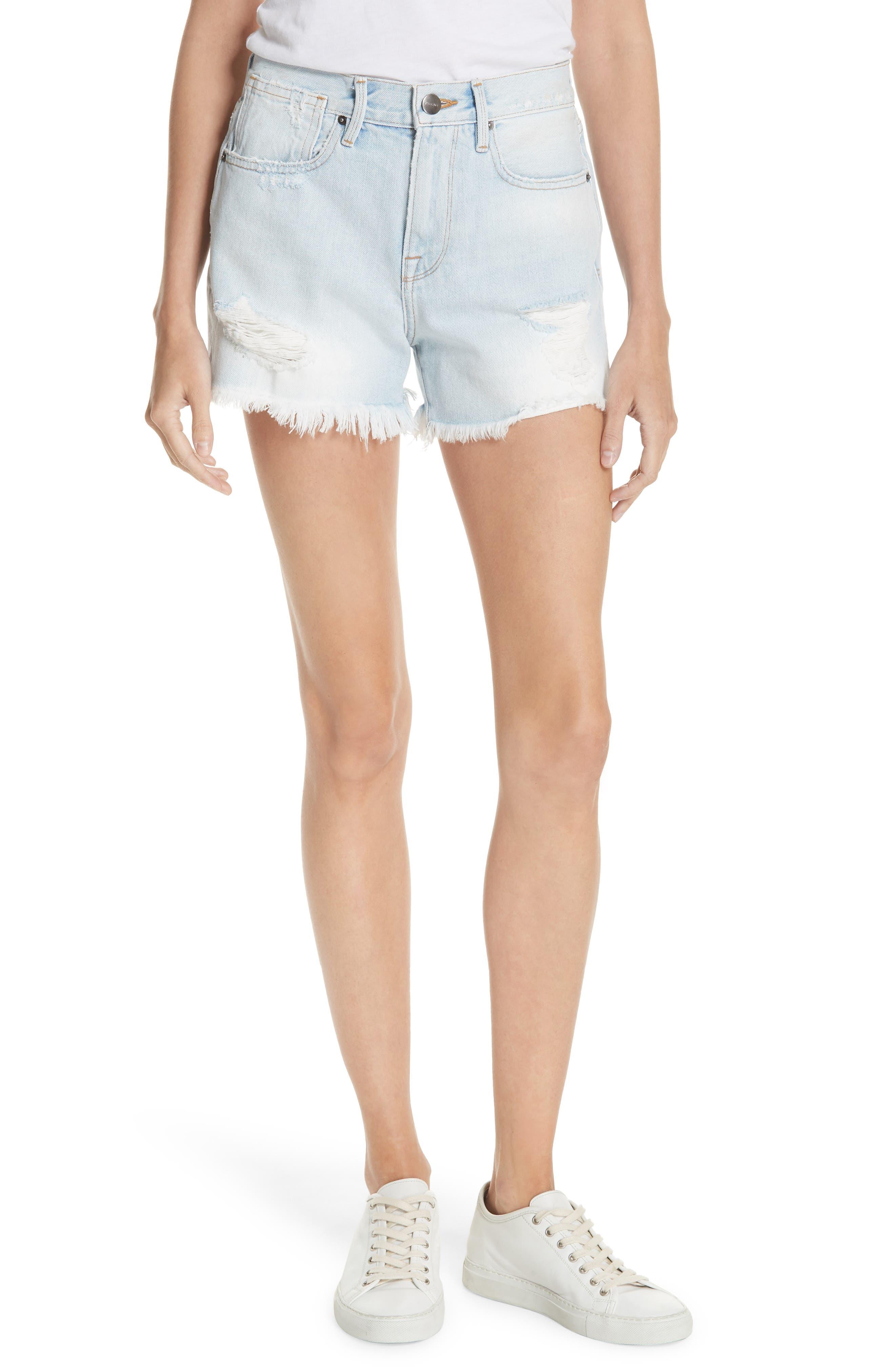 Le Stevie Denim Shorts,                         Main,                         color, Henley