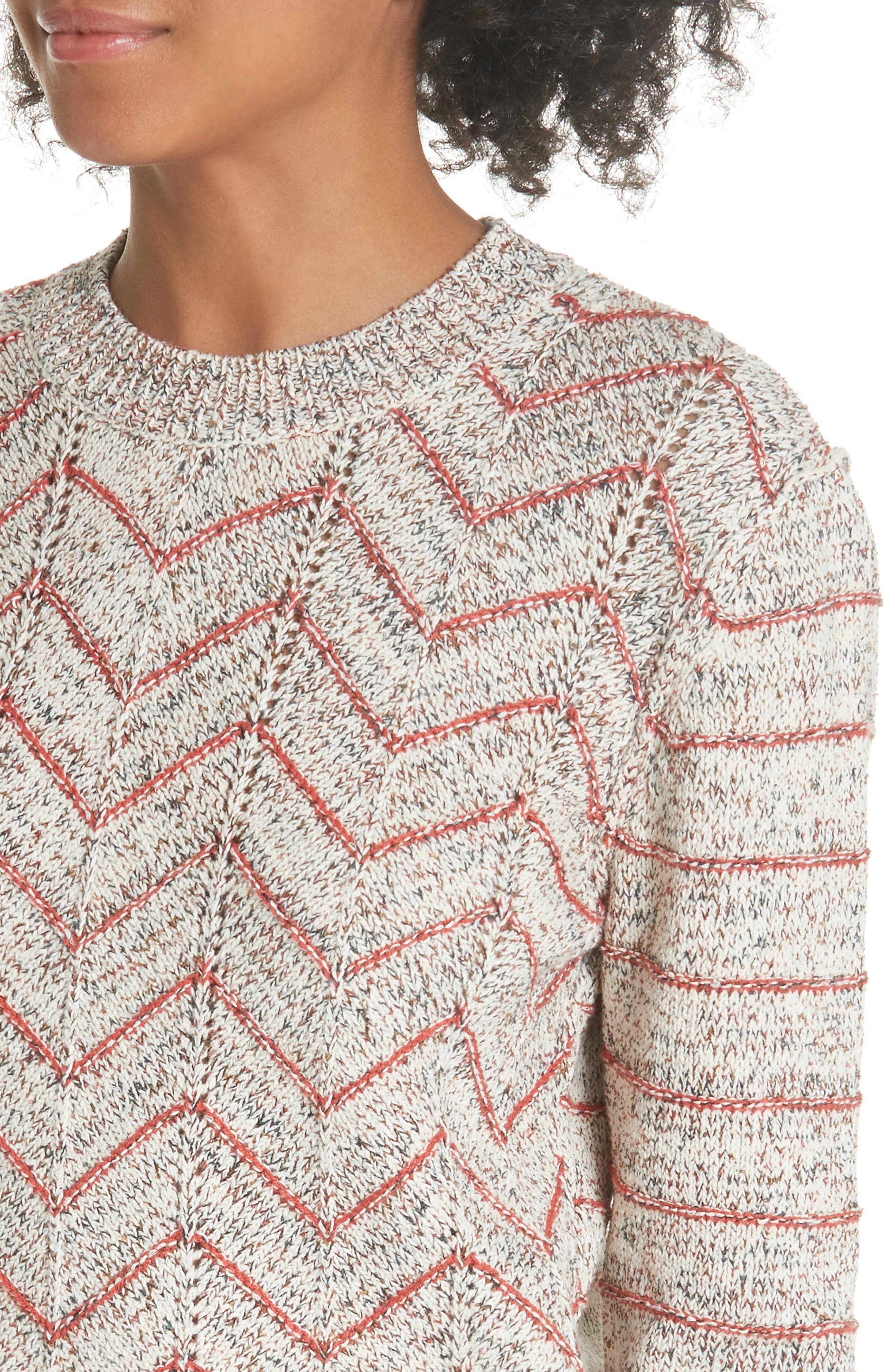 Zigzag Pullover,                             Alternate thumbnail 4, color,                             Ivory