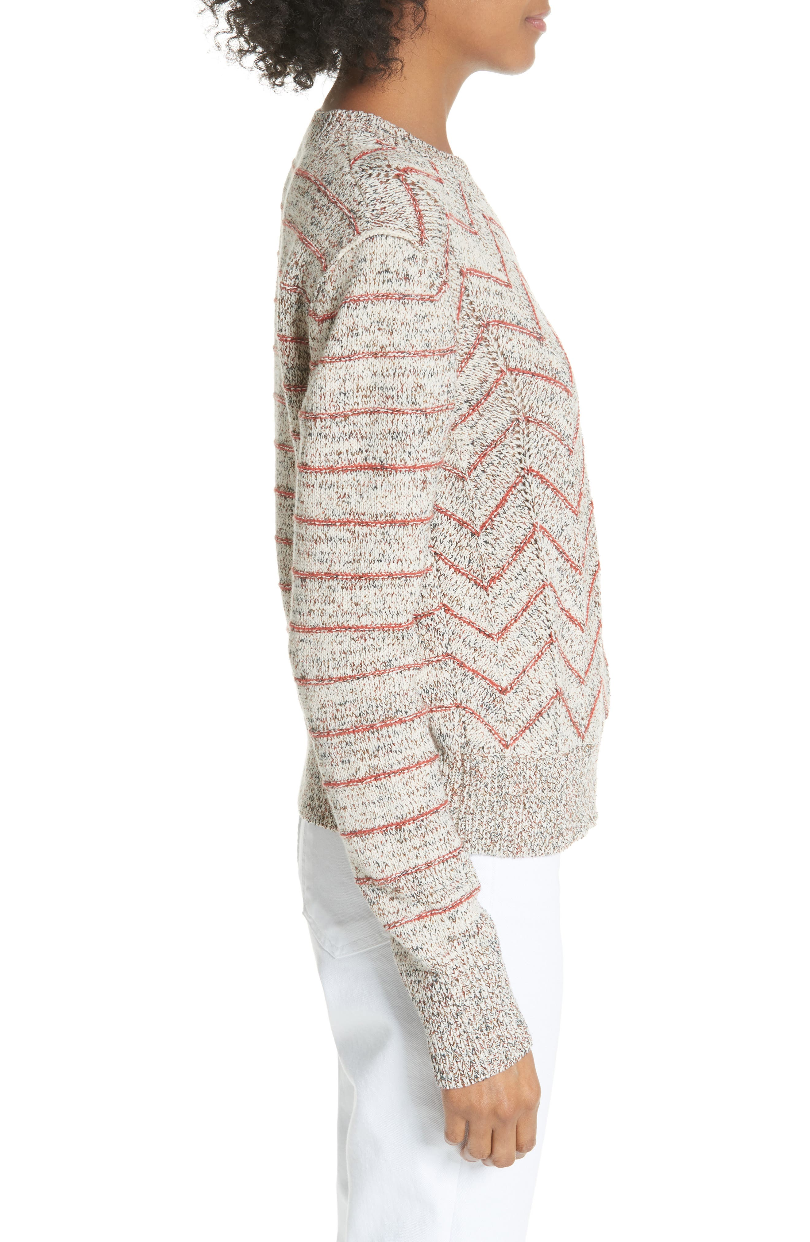 Zigzag Pullover,                             Alternate thumbnail 3, color,                             Ivory