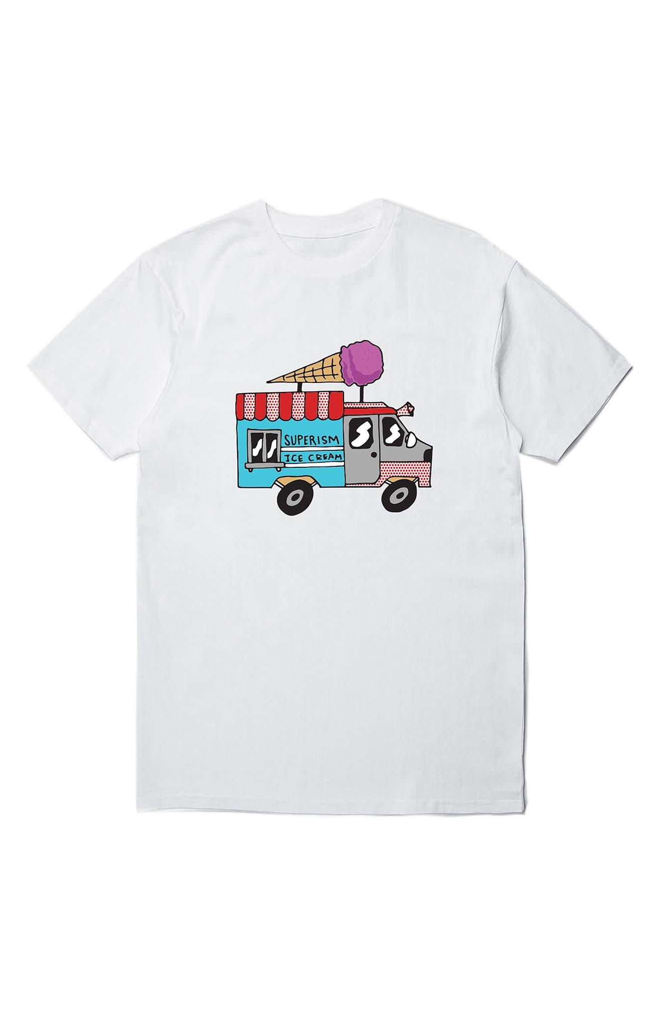 Ice Cream Truck Graphic T-Shirt,                             Main thumbnail 1, color,                             White