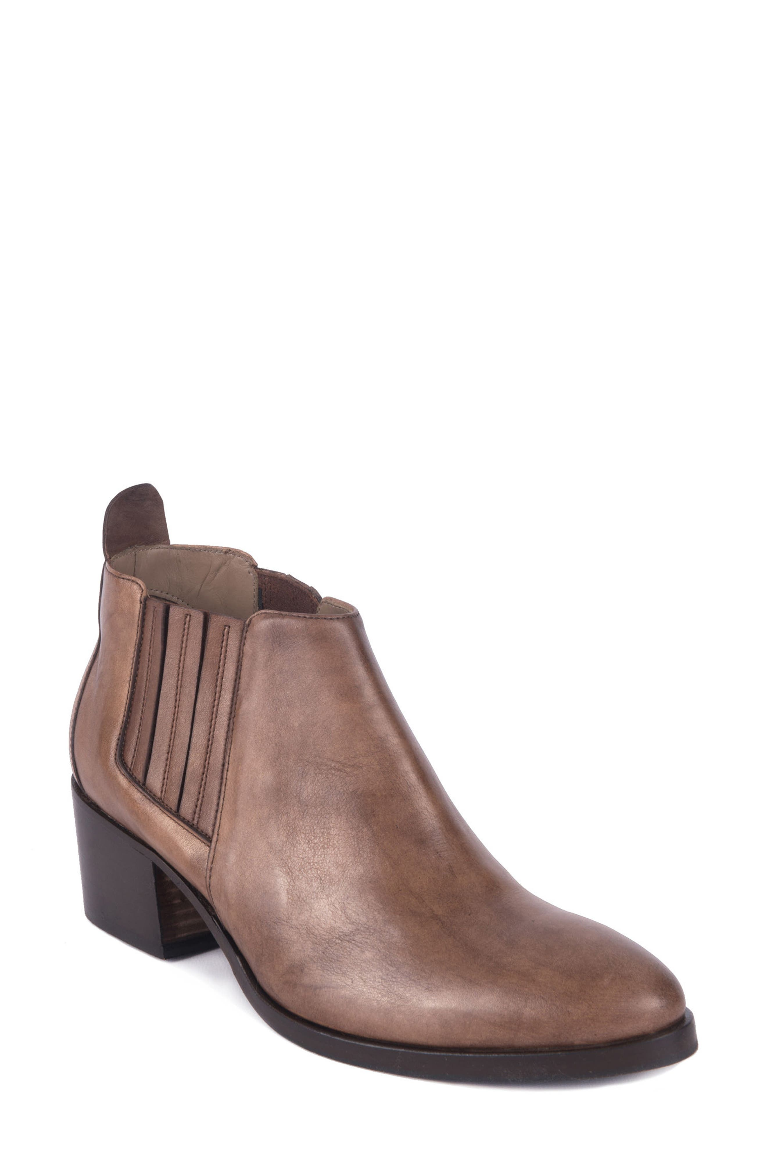 Corsini Water-Resistant Pull On Bootie,                         Main,                         color, Marrone Leather