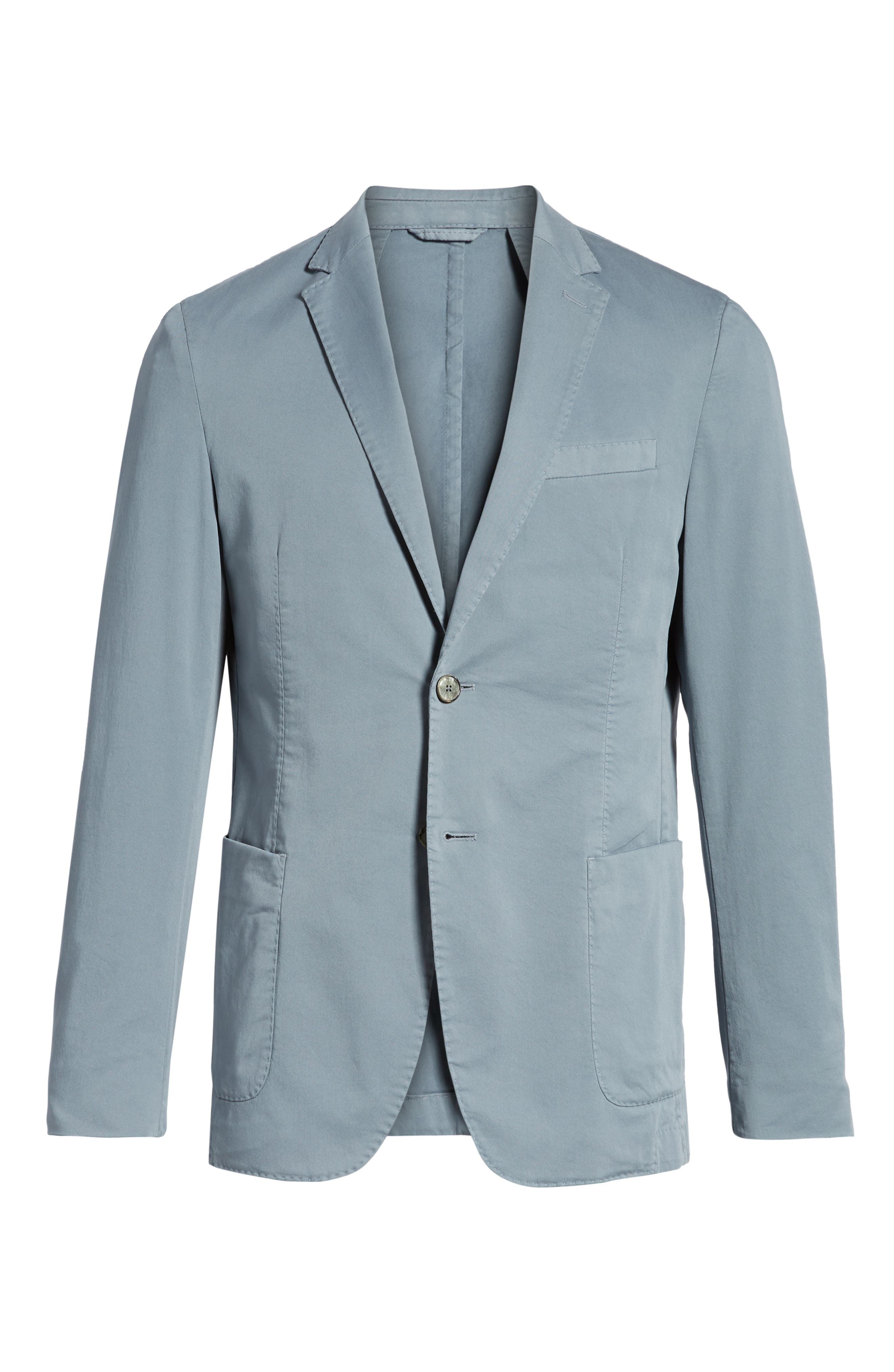 Hanry-D Trim Fit Stretch Cotton Blazer,                             Alternate thumbnail 6, color,                             Blue