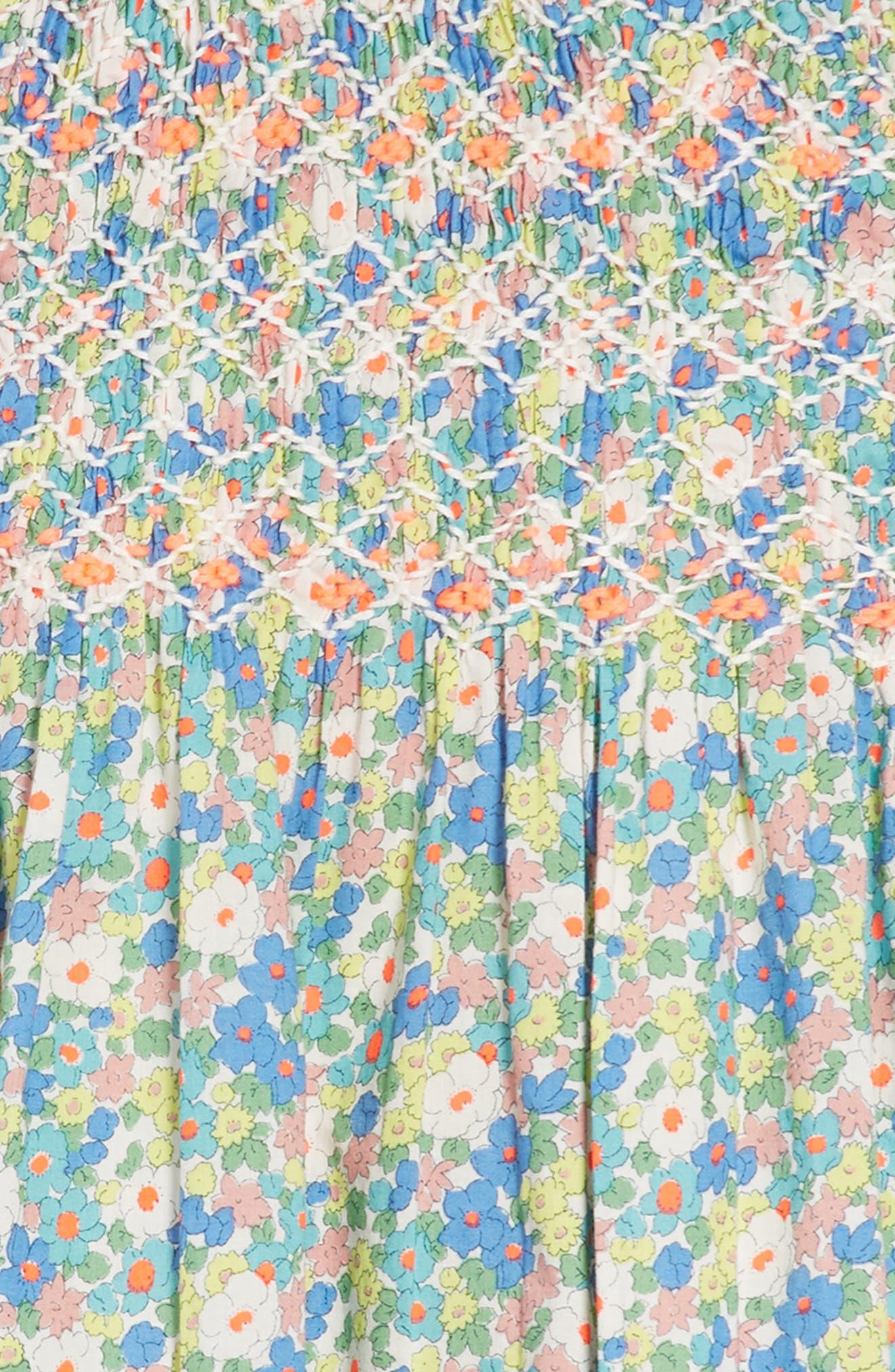 Nostalgic Smocked Dress,                             Alternate thumbnail 2, color,                             Camper Blue Vintage