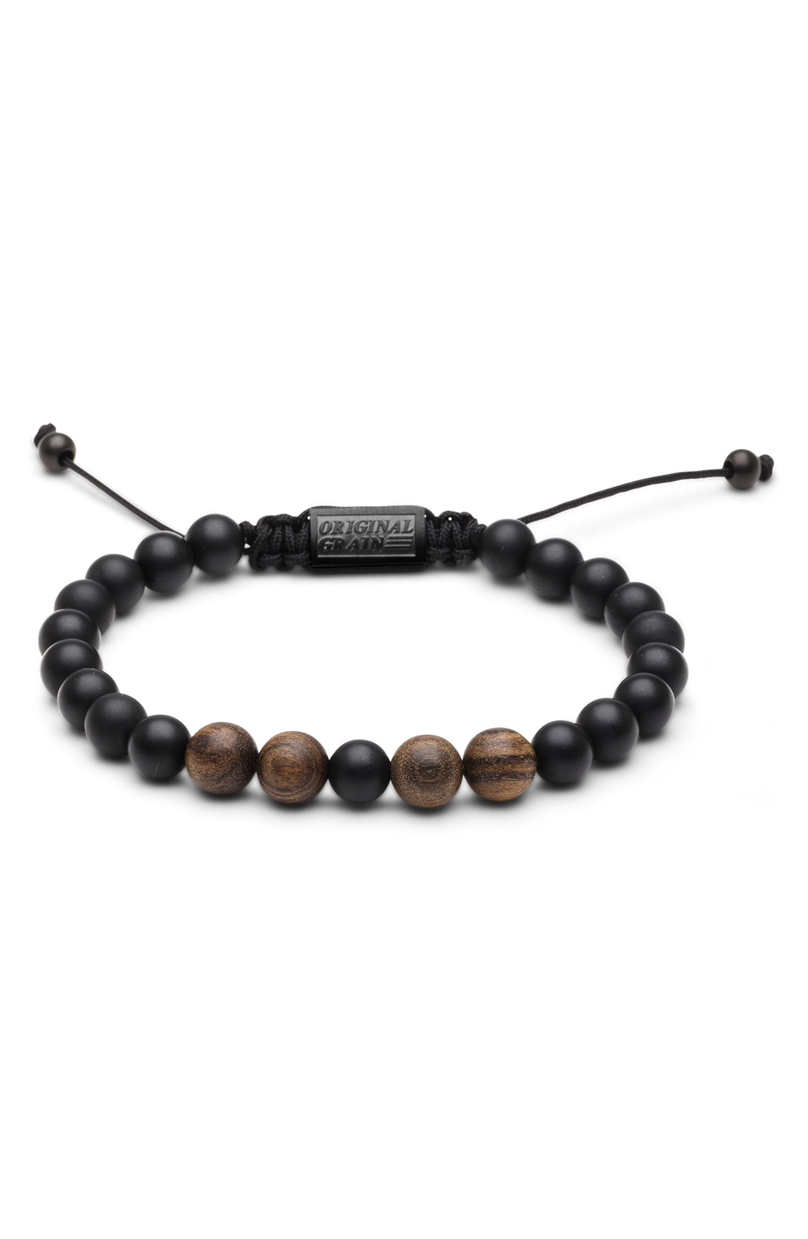 Bead Bracelet,                         Main,                         color, Ebony Onyx