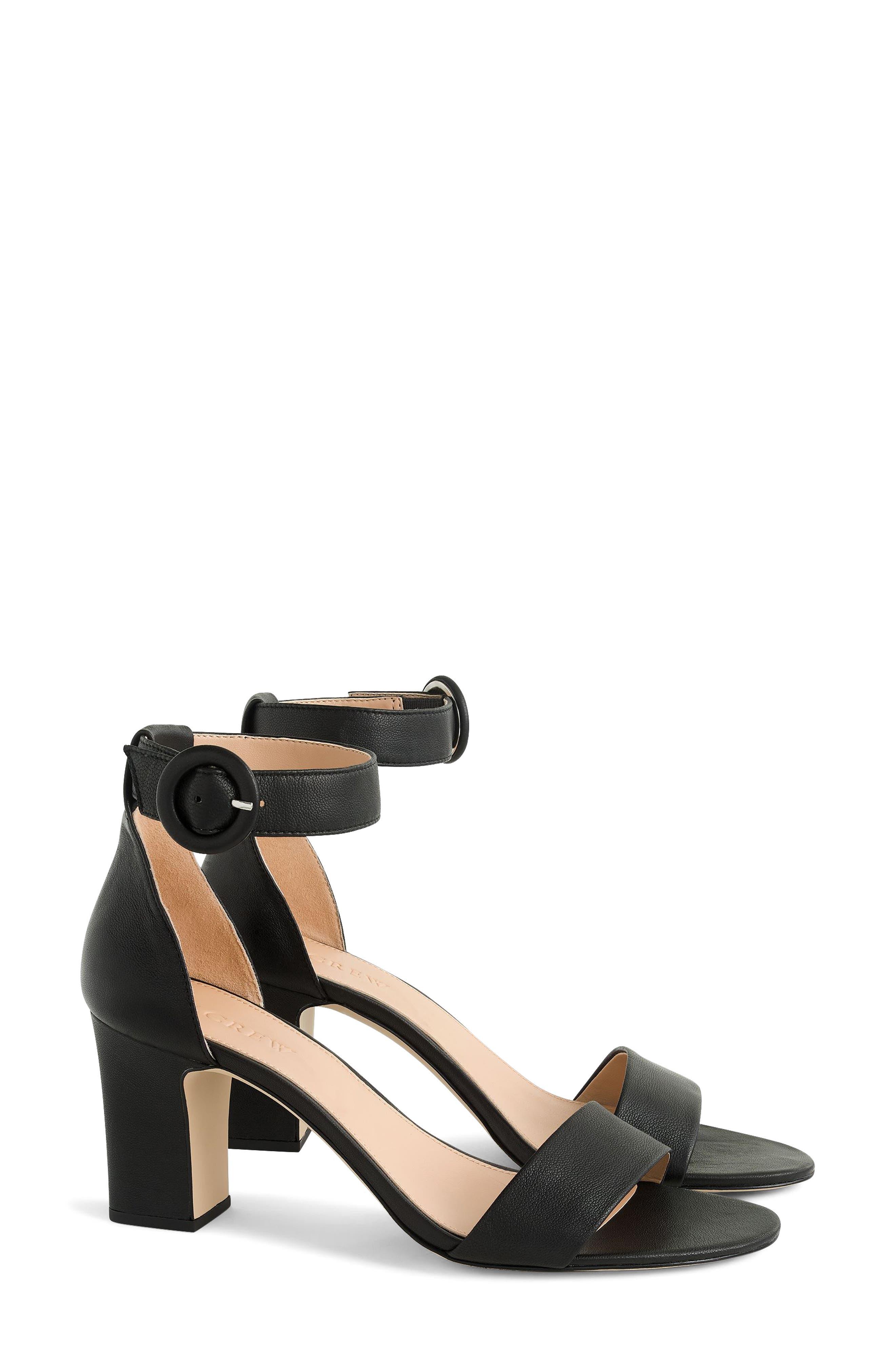 Remi Ankle Strap Sandal,                             Main thumbnail 1, color,                             Black
