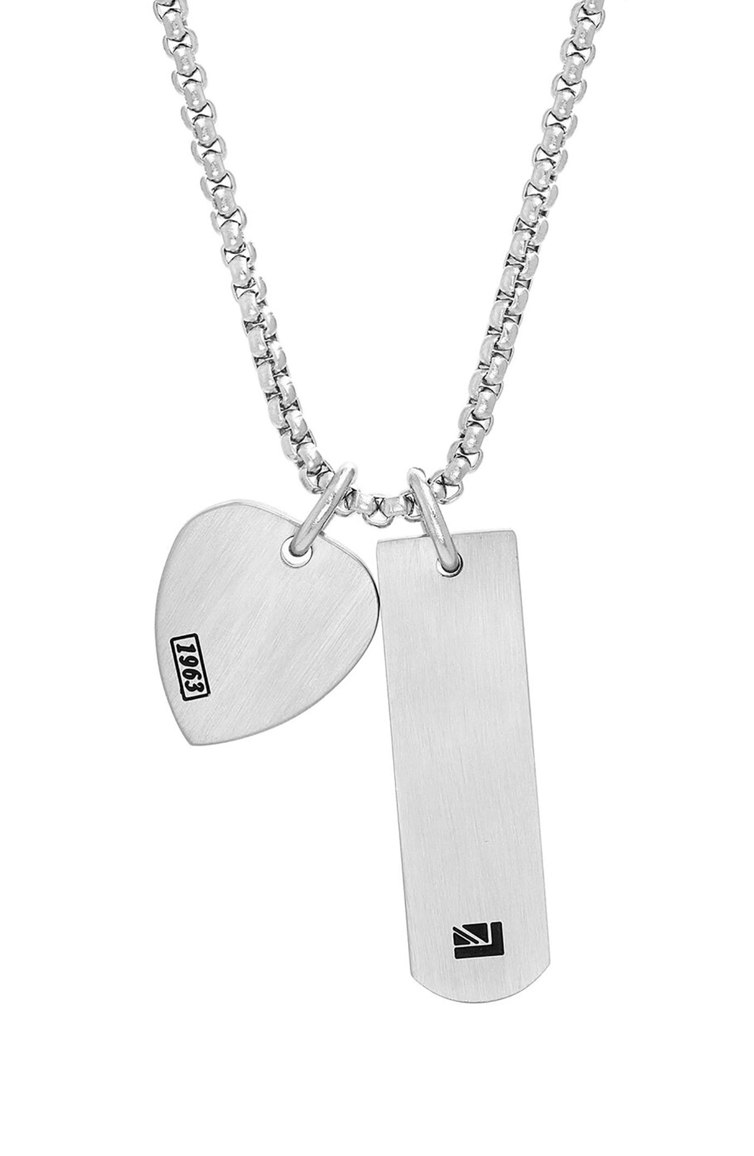 Teardrop Pendant Necklace,                         Main,                         color, Silver