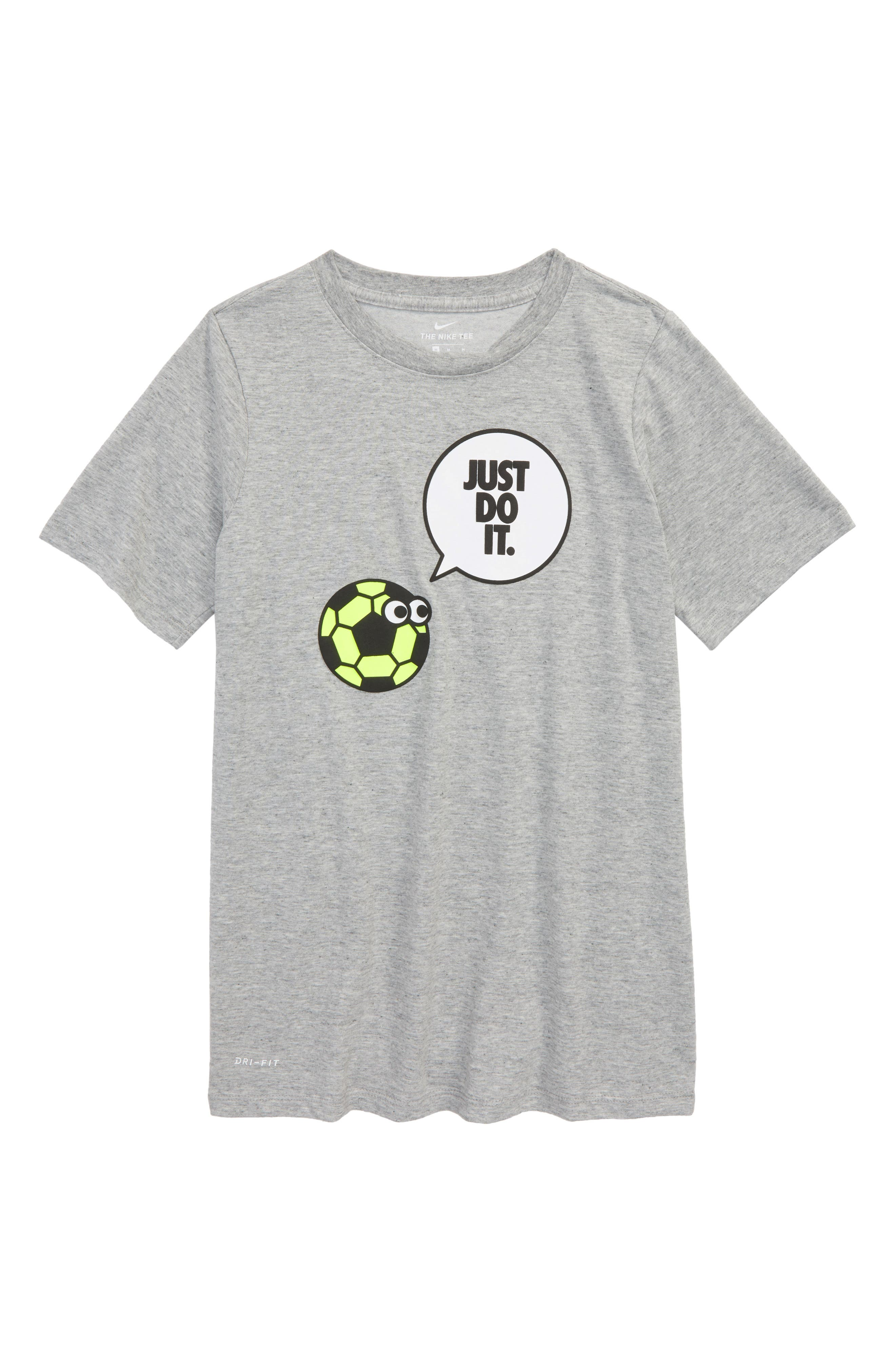 Dry Graphic T-Shirt,                         Main,                         color, Dark Grey Heather/ Volt