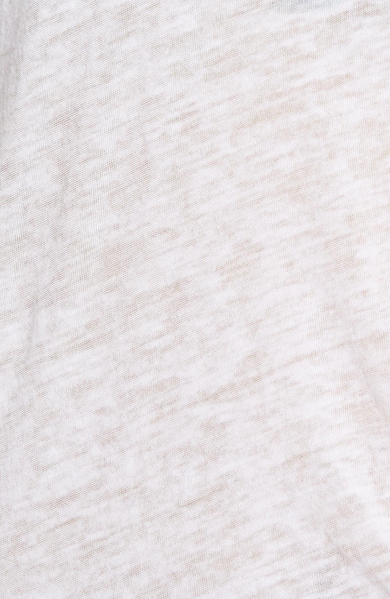 France Tie Hem Graphic Tee,                             Alternate thumbnail 5, color,                             White