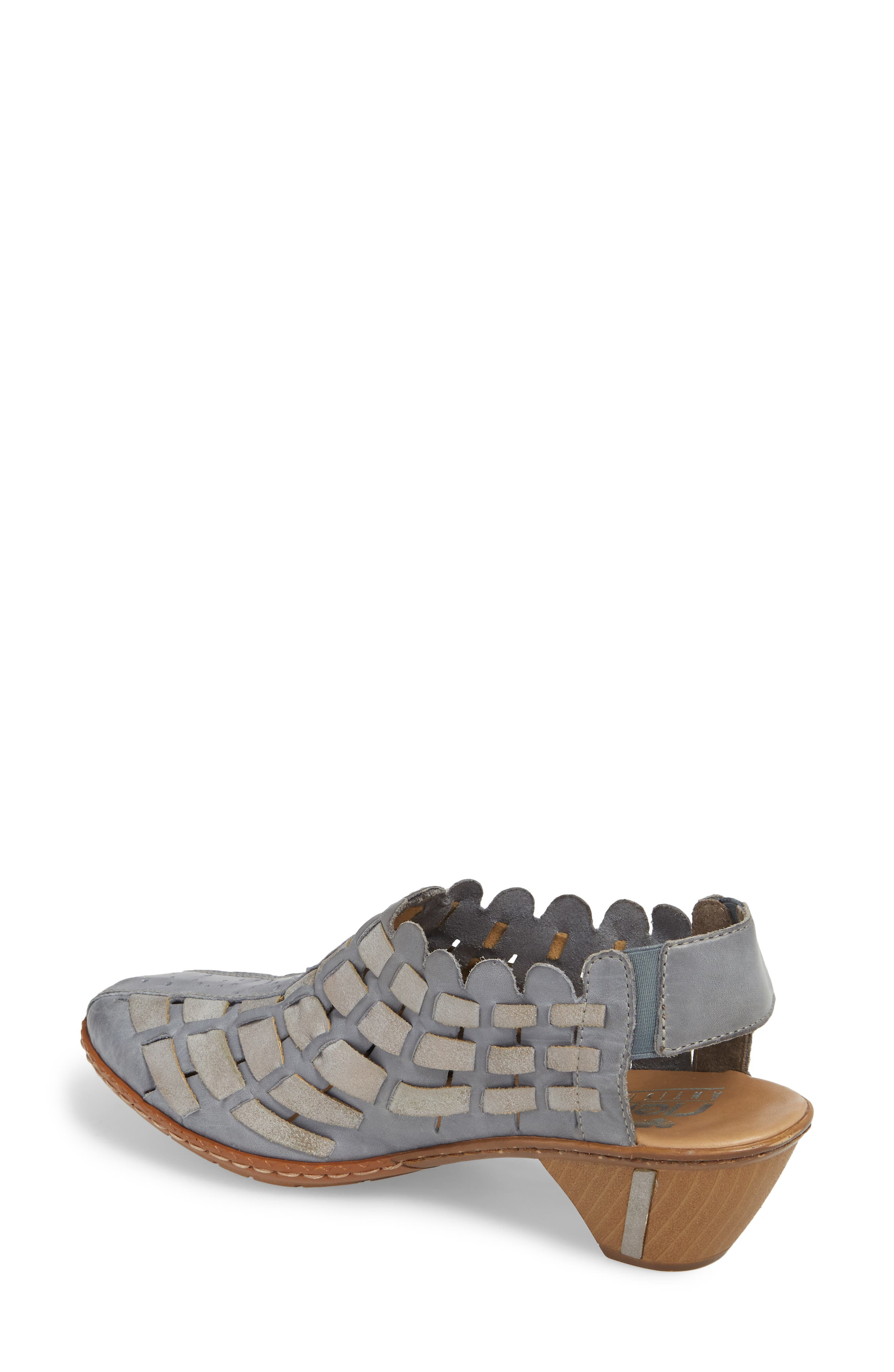 'Sina' Woven Bootie,                             Alternate thumbnail 2, color,                             Azur Grey Leather