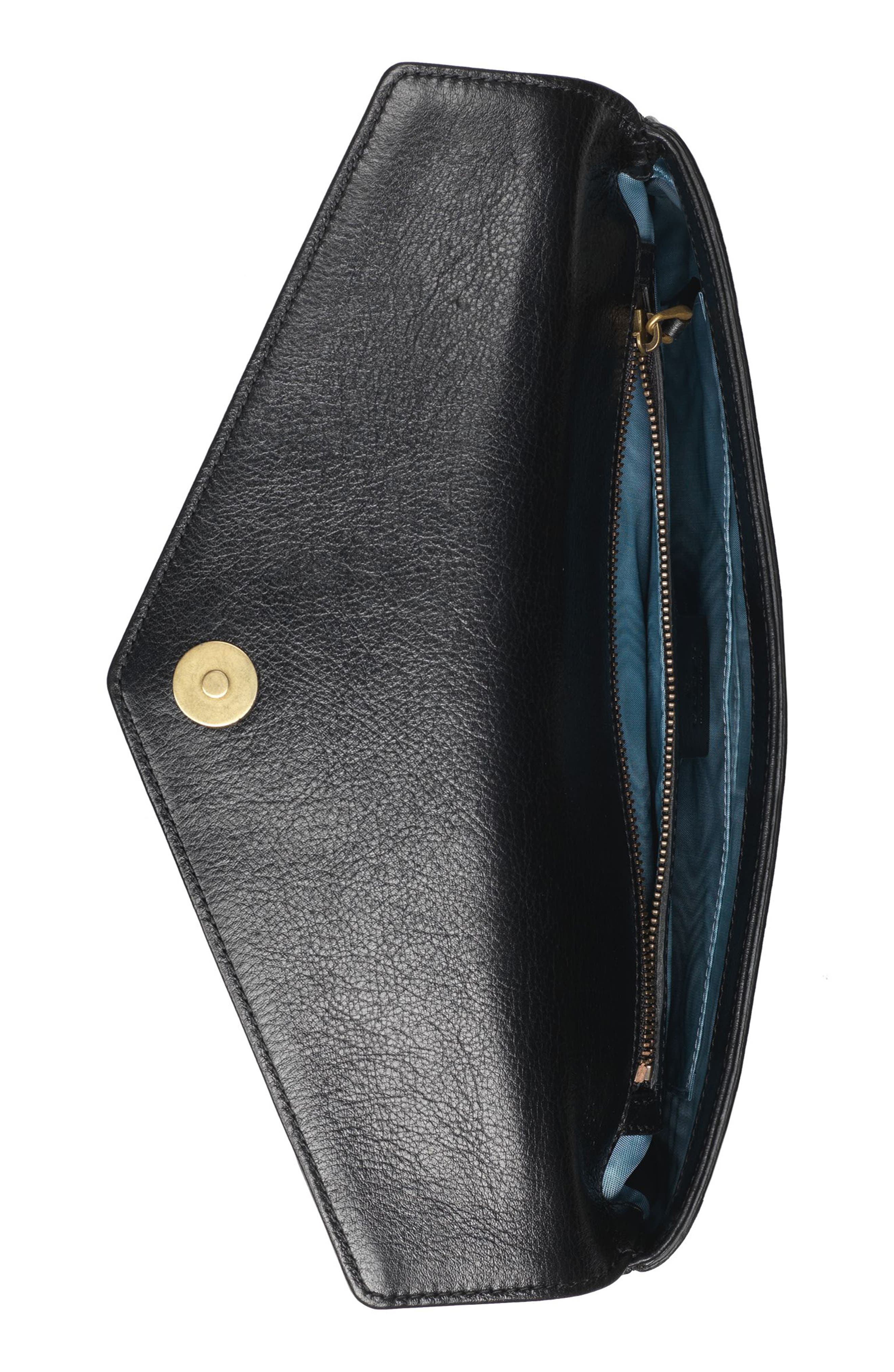 Broadway Crystal GG Leather Envelope Clutch,                             Alternate thumbnail 3, color,                             Nero Multi