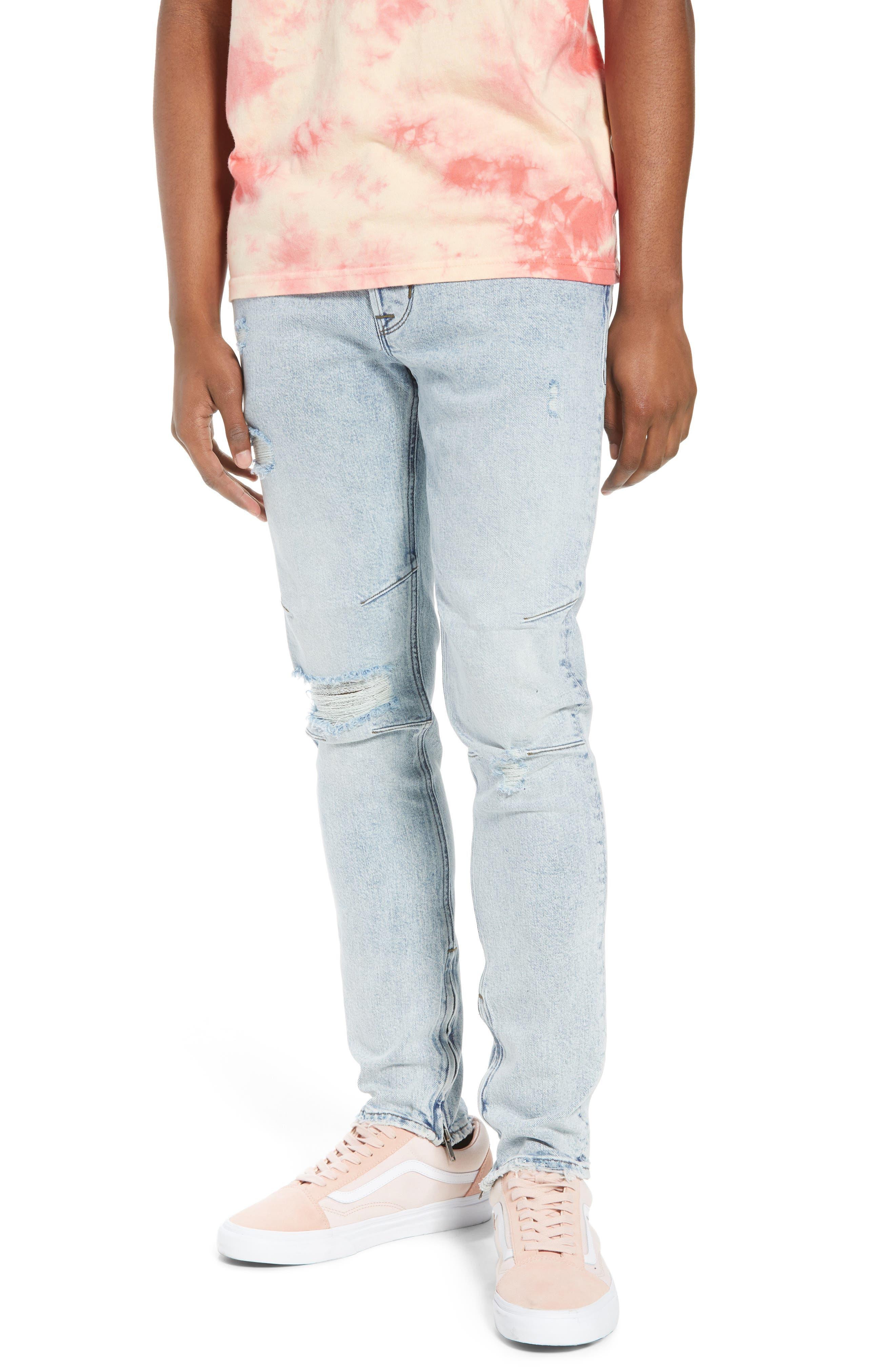 Vaughn Biker Skinny Fit Jeans,                         Main,                         color, Echo Park