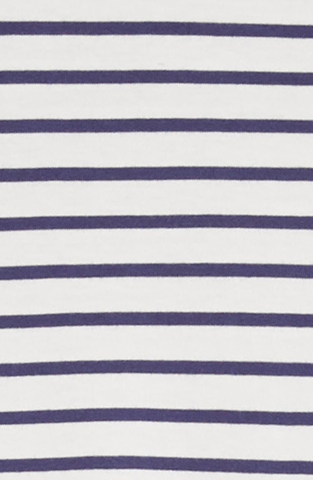 Crochet Sleeve Sundress,                             Alternate thumbnail 2, color,                             Ivory/ Starboard Blue