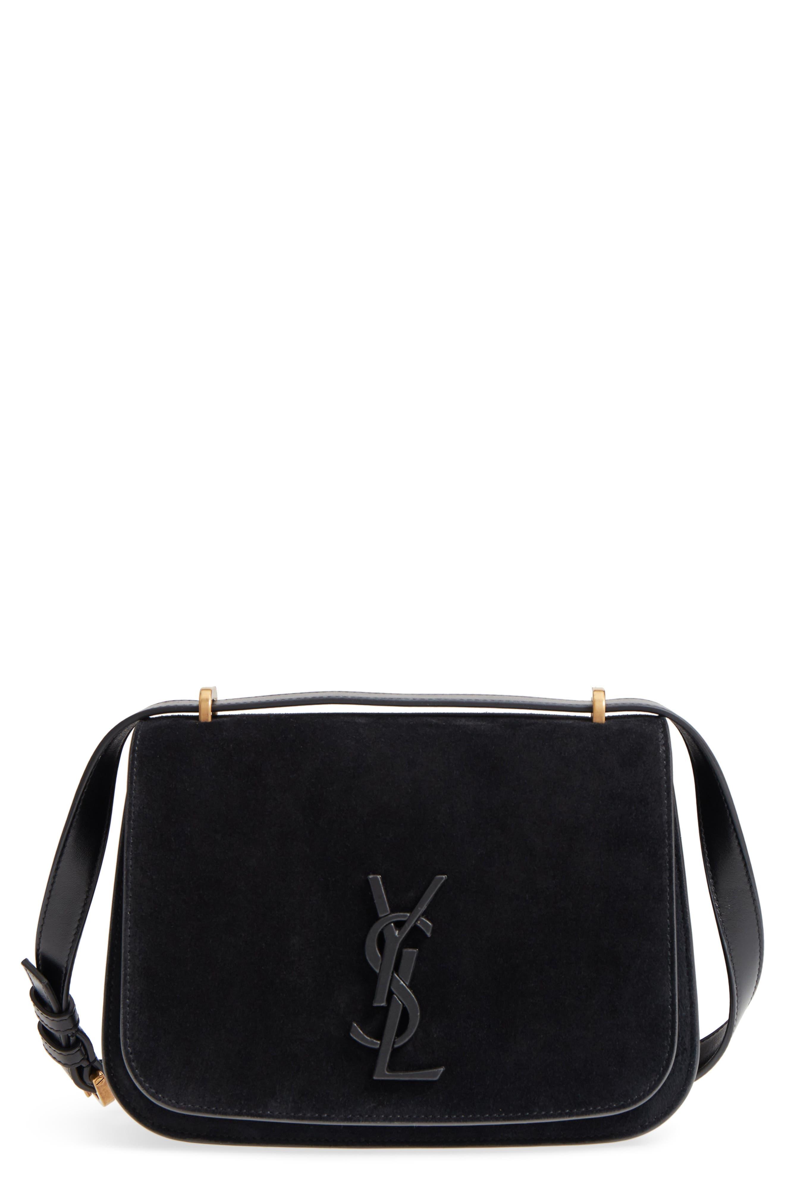Saint Laurent Small Spontini Suede Crossbody Bag