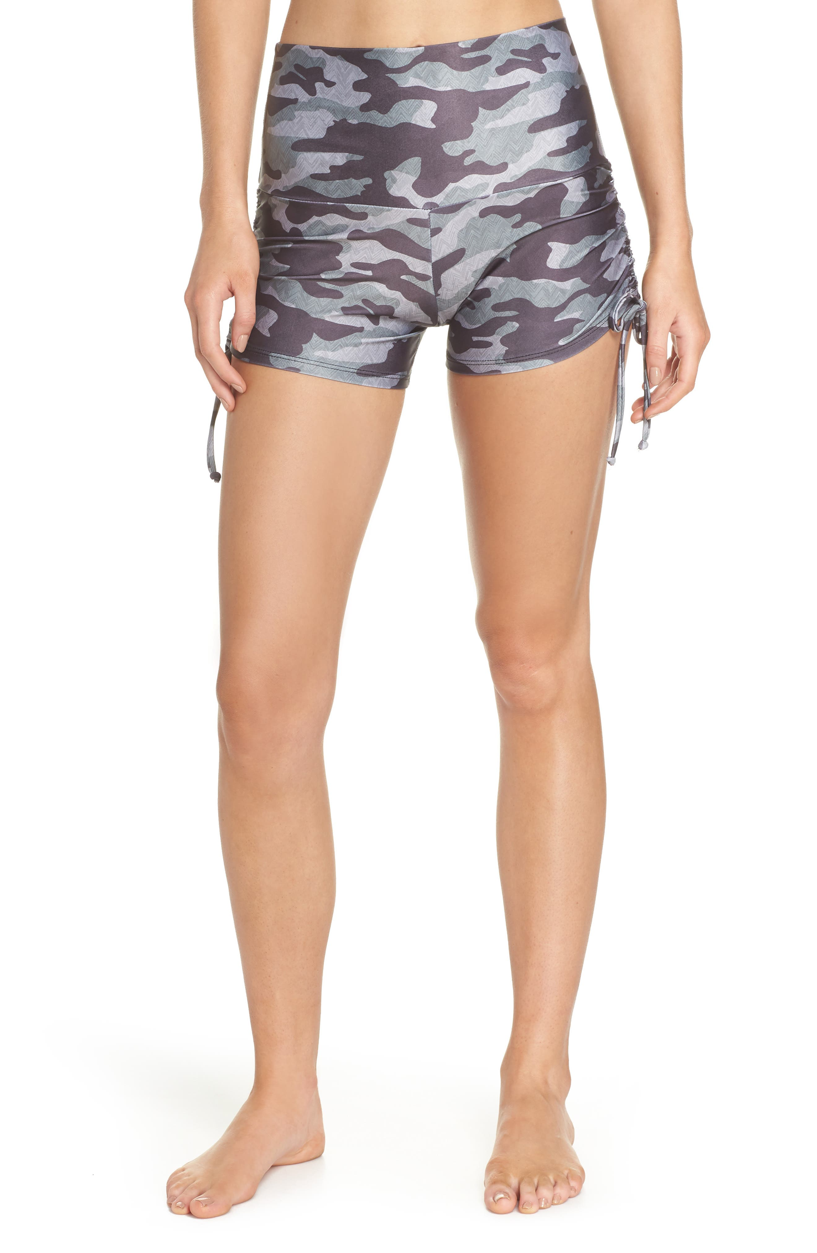 La Coqueta Swim Bottoms,                         Main,                         color, Distressed Camo